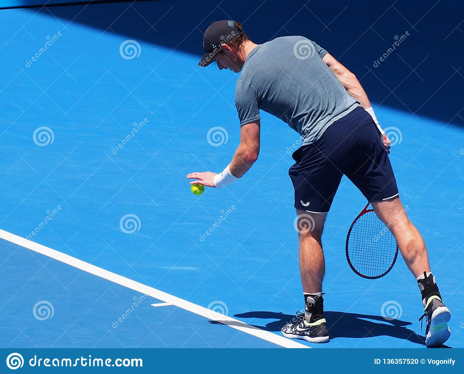 Andy Murray at the Australian Open 2019