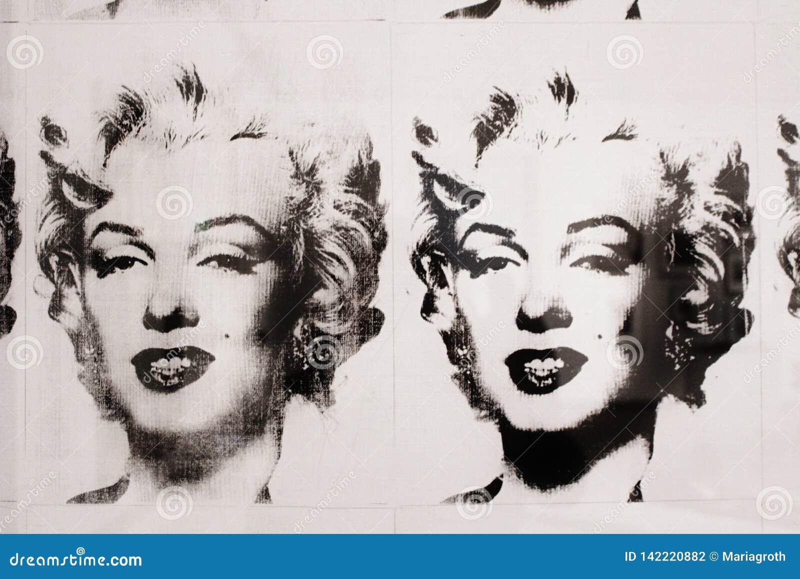 Andy Warhol Marilyn Monroe En Noir Et Blanc Moderna Museet Photographie Editorial Image Du Andy Marilyn 142220882