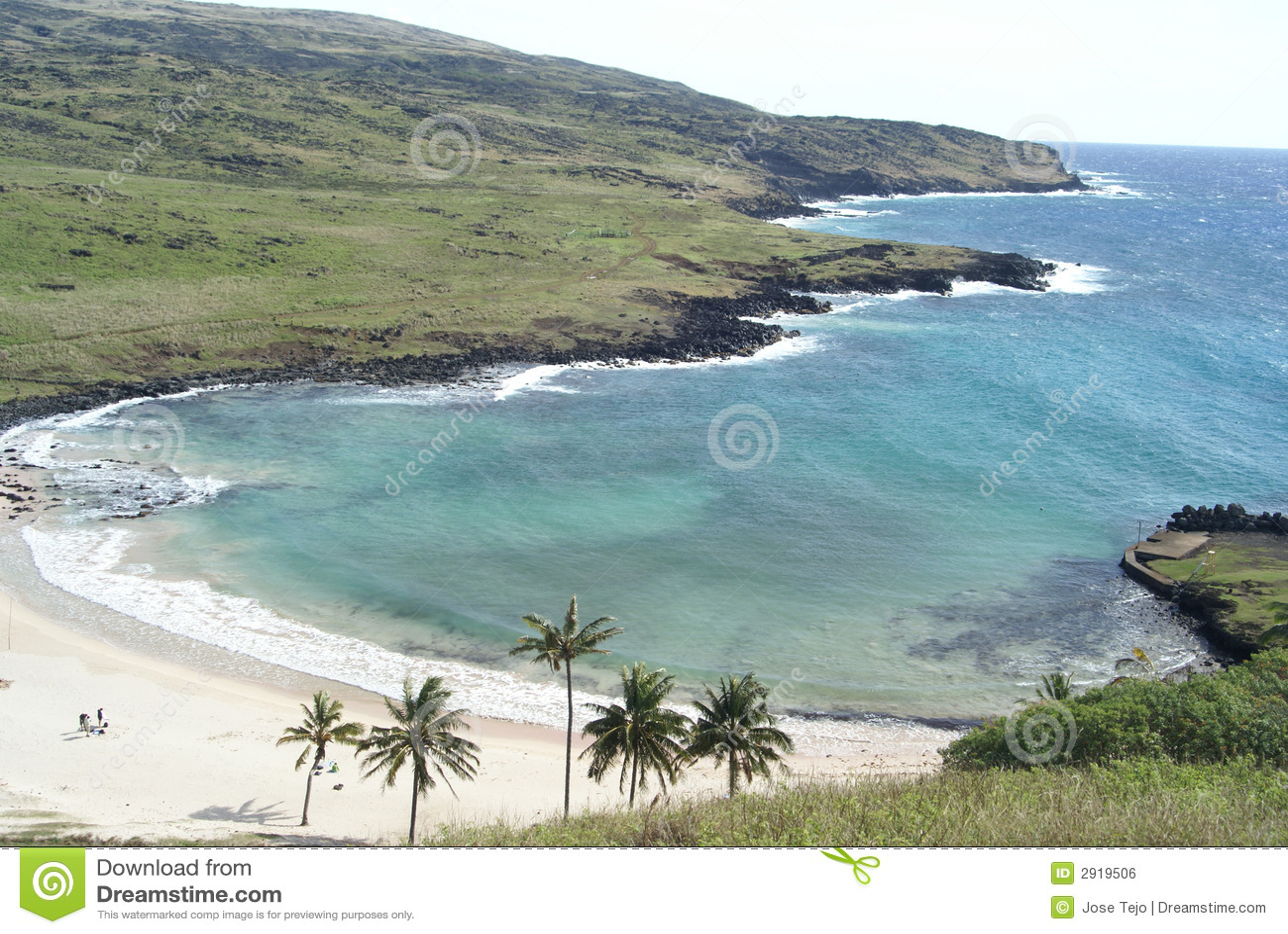 Anekena en la isla de pascua