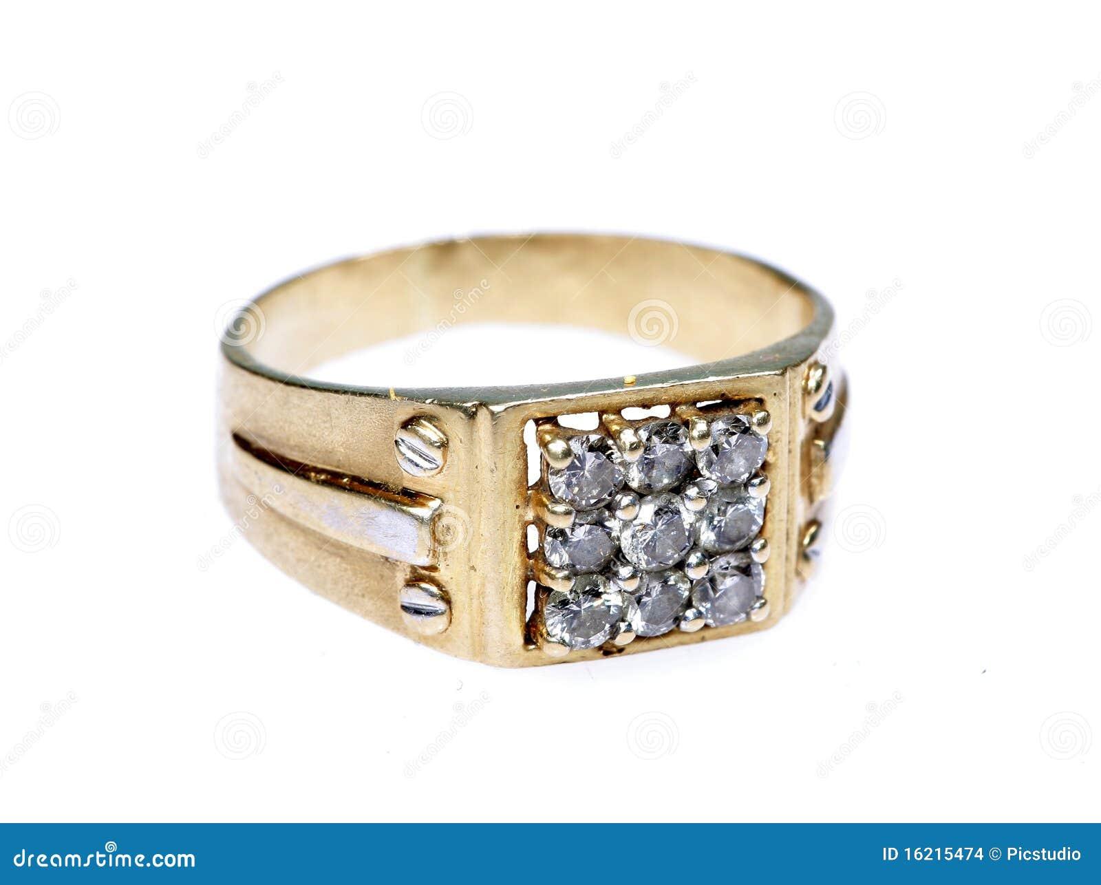 Anel de diamante masculino