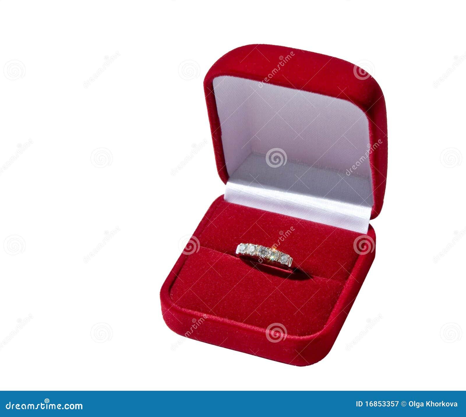 Anel de ouro na caixa