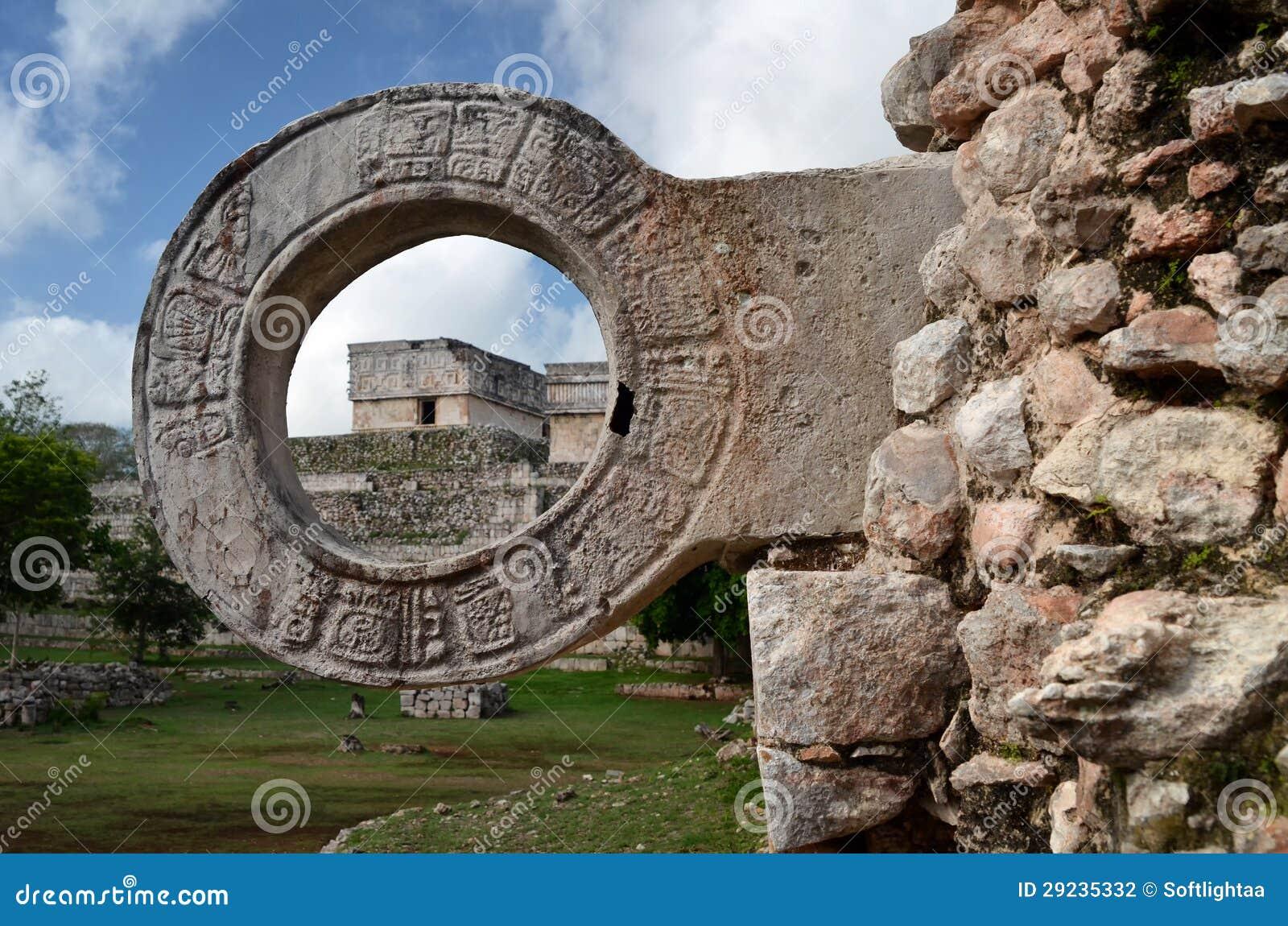 Download Anel De Pedra Para Jogos De Bola Em Uxmal, Iucatão Foto de Stock - Imagem de cidade, civilização: 29235332