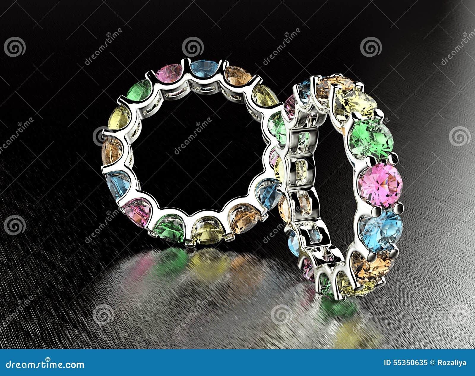 Anello con il diamante differente