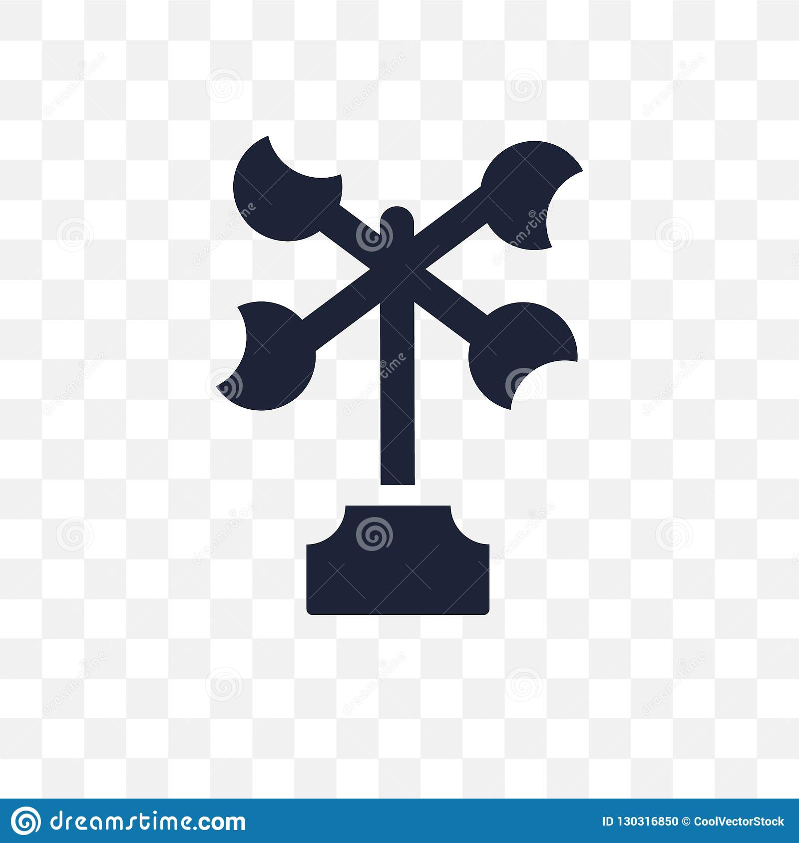 Anemometer transparent icon. Anemometer symbol design from Weather collection.