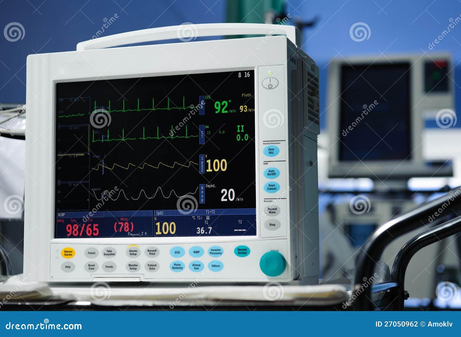 Anesthesia Monitor Description Stock Photo - Image of
