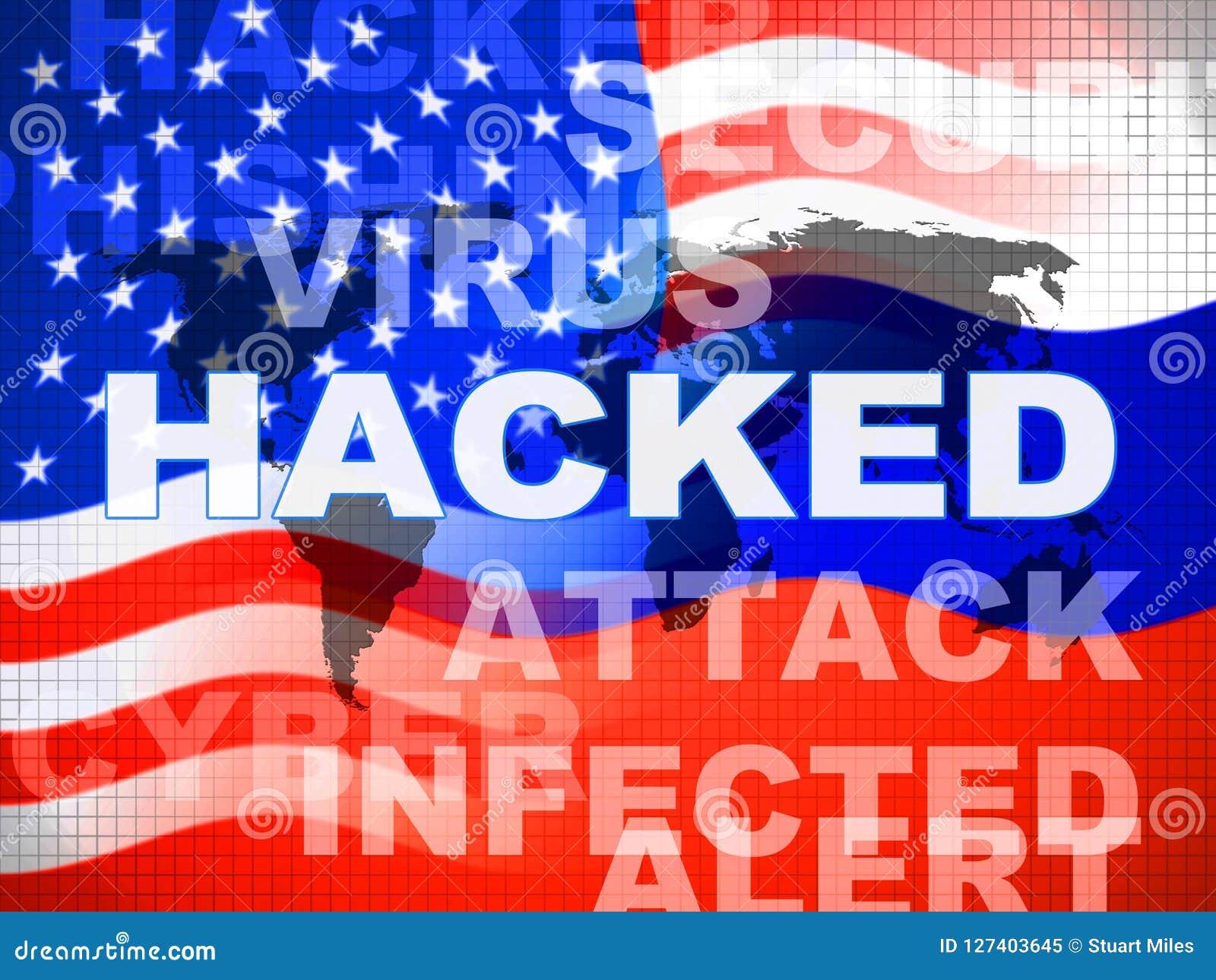 Anfaller ryskt spionage för valdataintrång illustrationen 3d