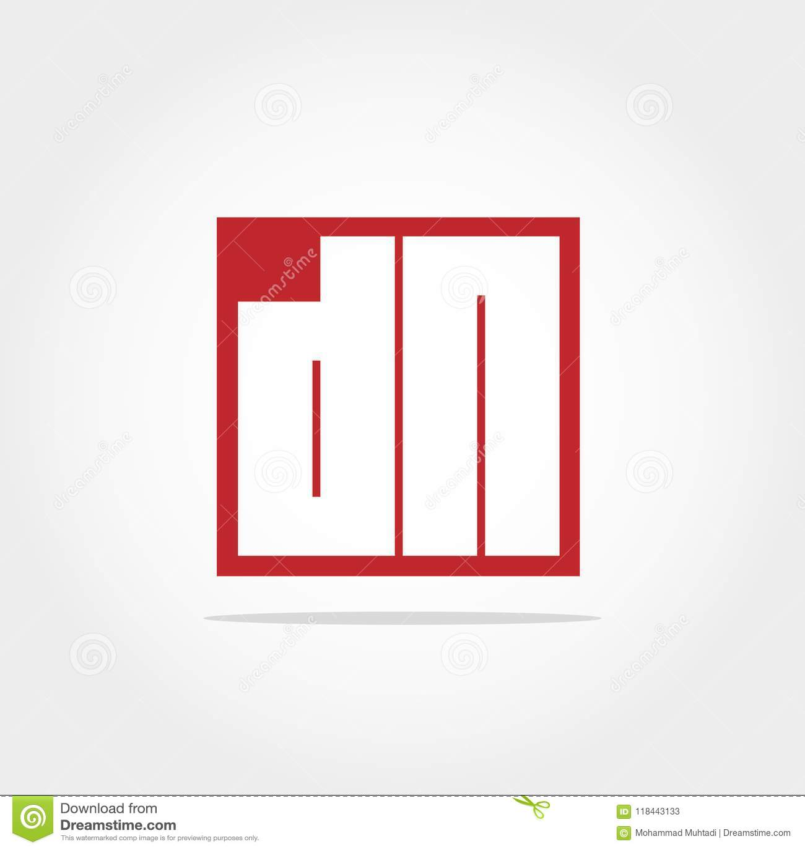 Anfangsbuchstabe DN Logo Template Vector Design