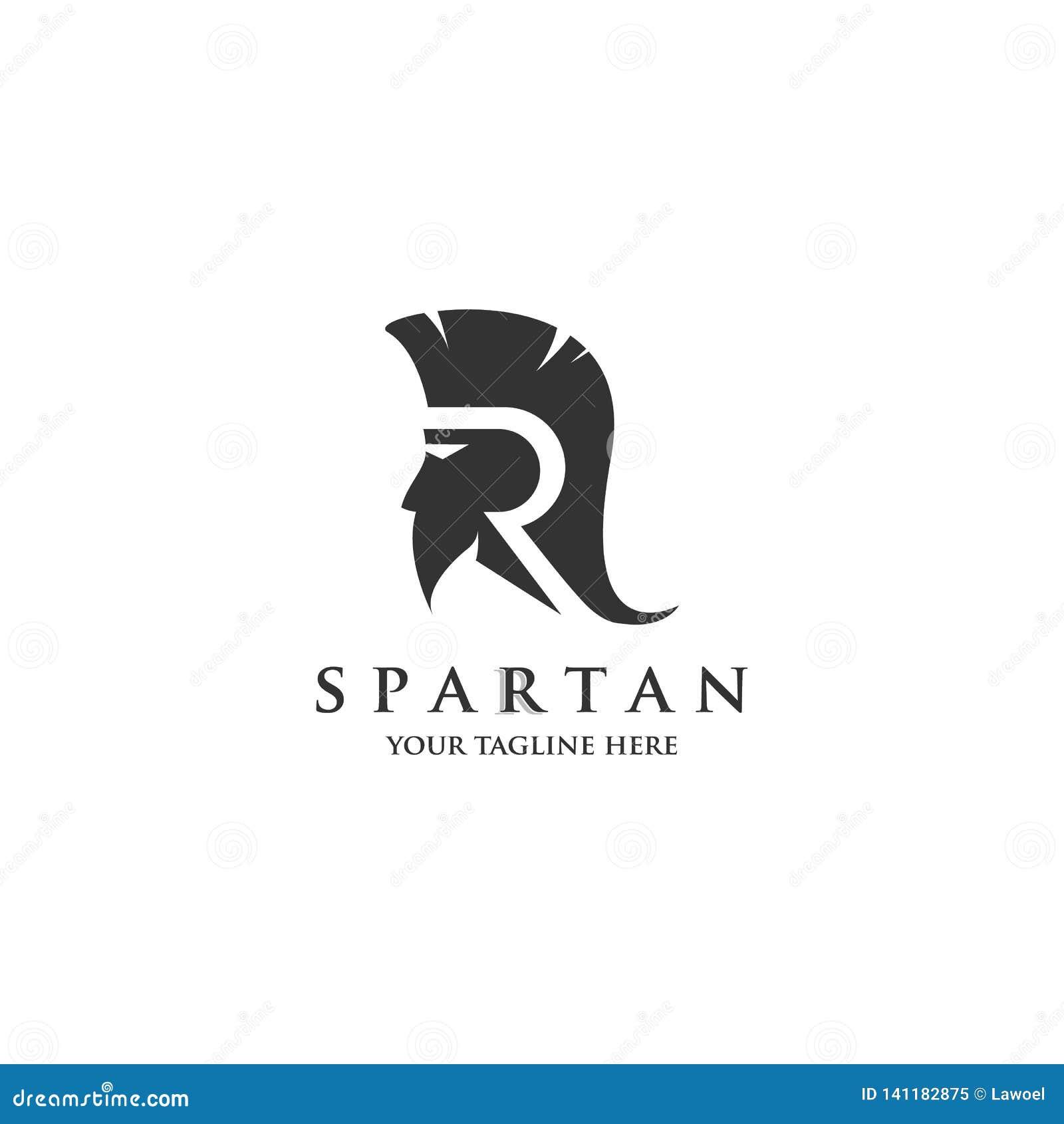 Anfangslogo R mit spartanischen Logoentwürfen