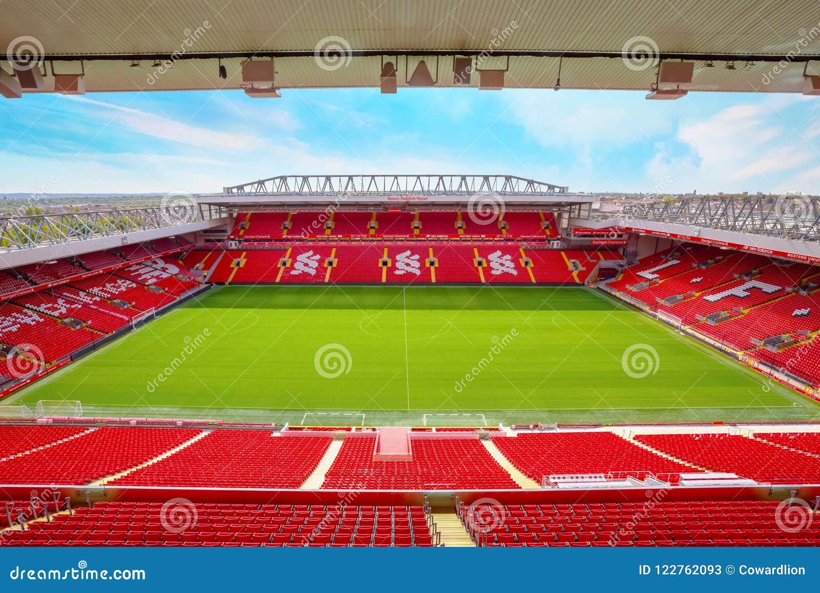 Anfield-Stadion von Liverpool FC in Großbritannien