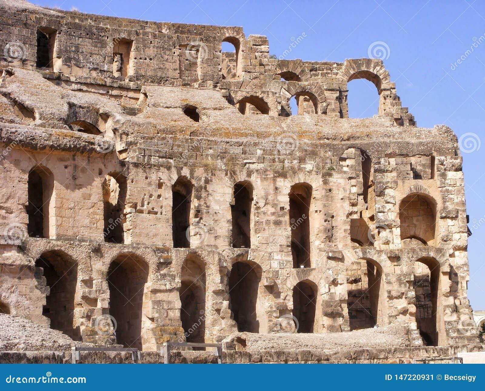 Anfiteatro antico in EL Jem, Tunisia, Nord Africa