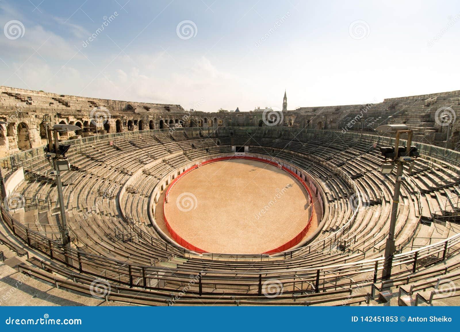 Anfiteatro da arena de Nimes, Nimes, França