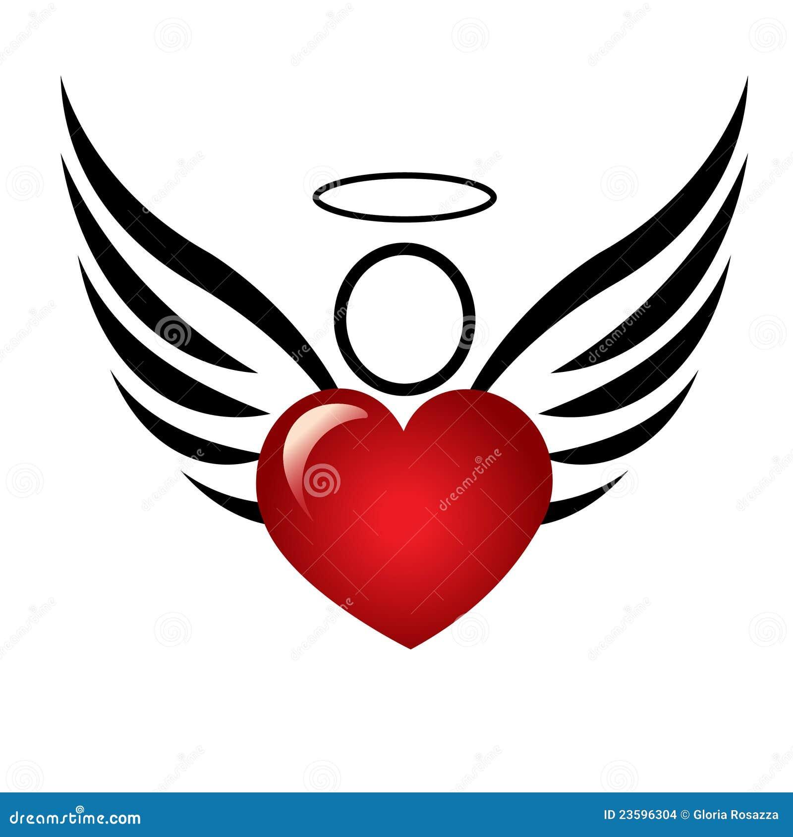 Ange avec le logo de coeur illustration de vecteur illustration du d coratif 23596304 - Images avec des coeurs ...