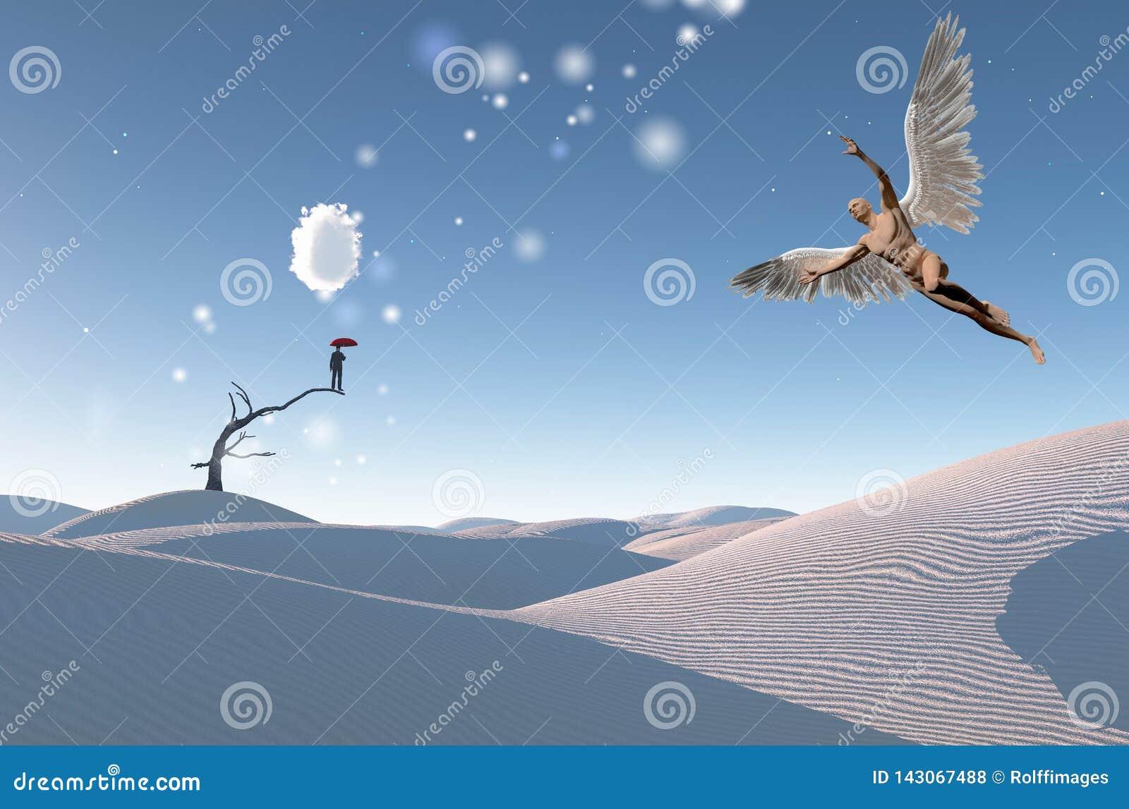 Ange de désert