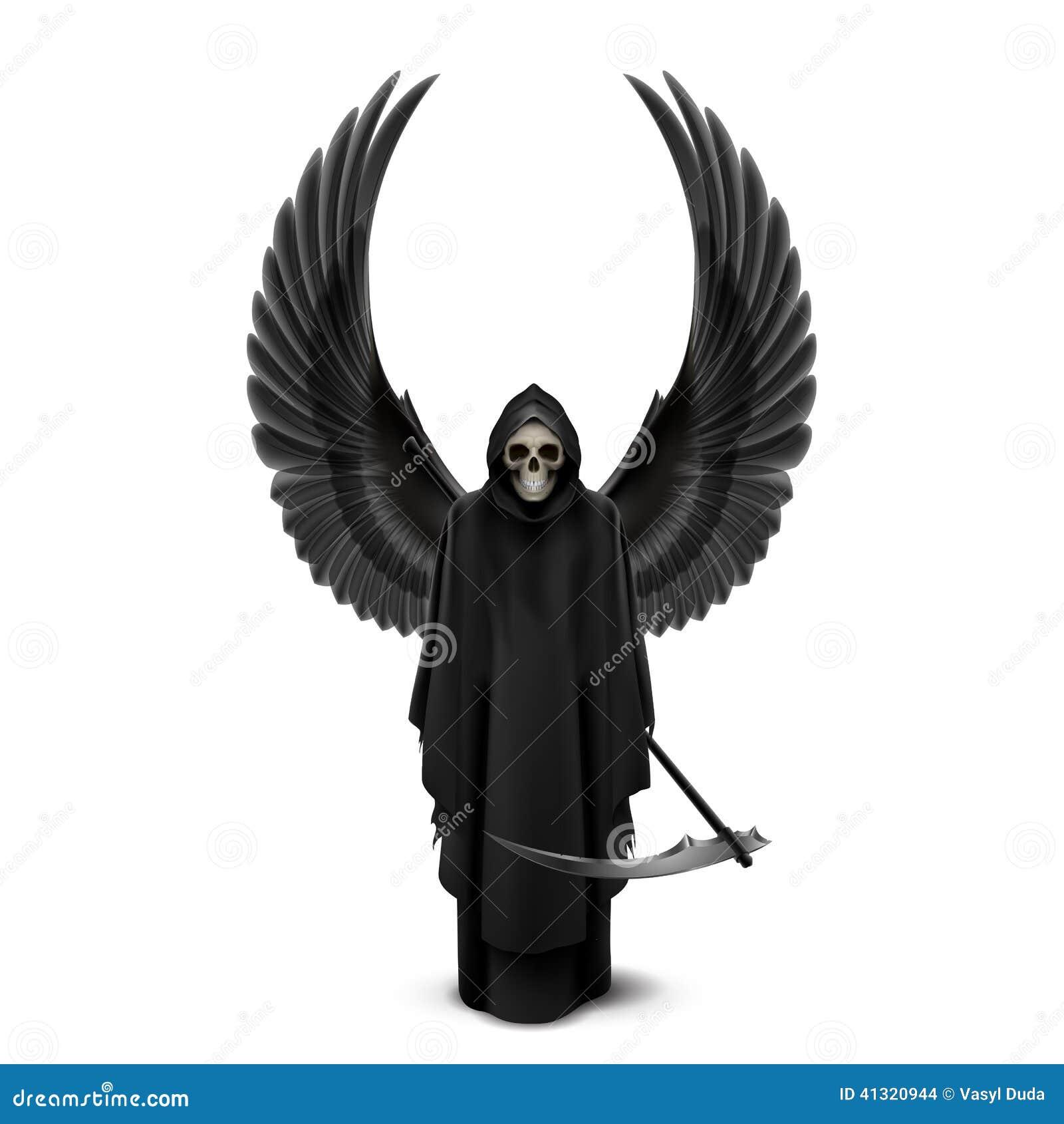 ange de la mort avec deux ailes illustration de vecteur illustration du robe mystique 41320944. Black Bedroom Furniture Sets. Home Design Ideas