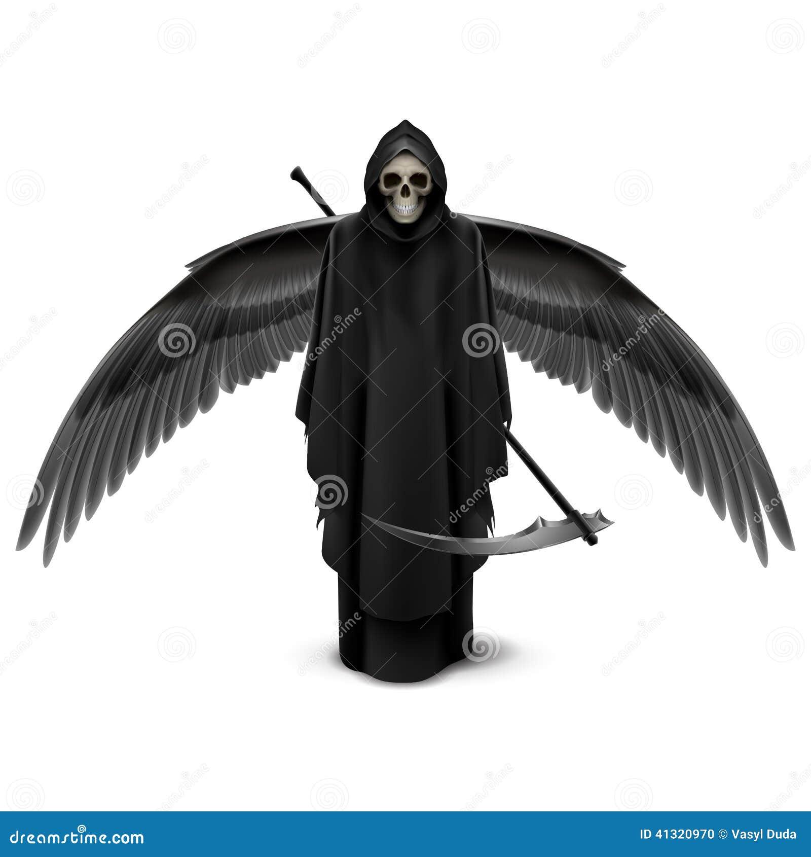 ange deux ailes de la mort illustration de vecteur image 41320970. Black Bedroom Furniture Sets. Home Design Ideas