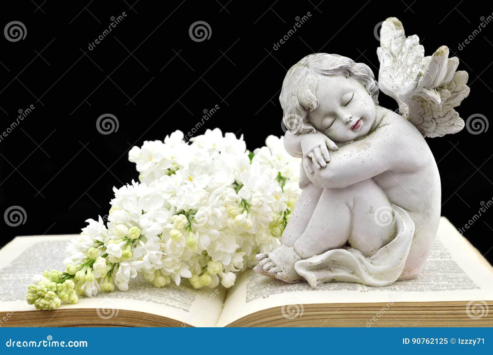 Pour CANTALINE... - Page 11 Ange-et-fleurs-blanches-de-ressort-90762125