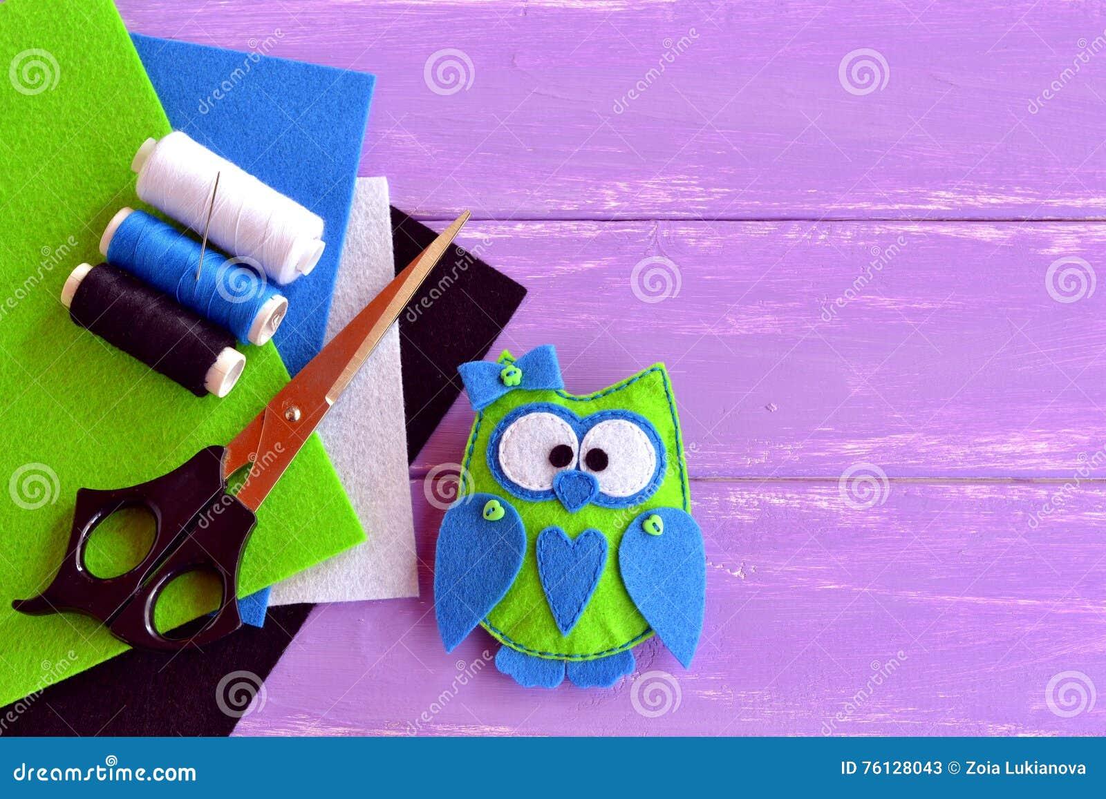 Angefülltes Spielzeug Des Filzhanddruckes Eule Spielzeug Des