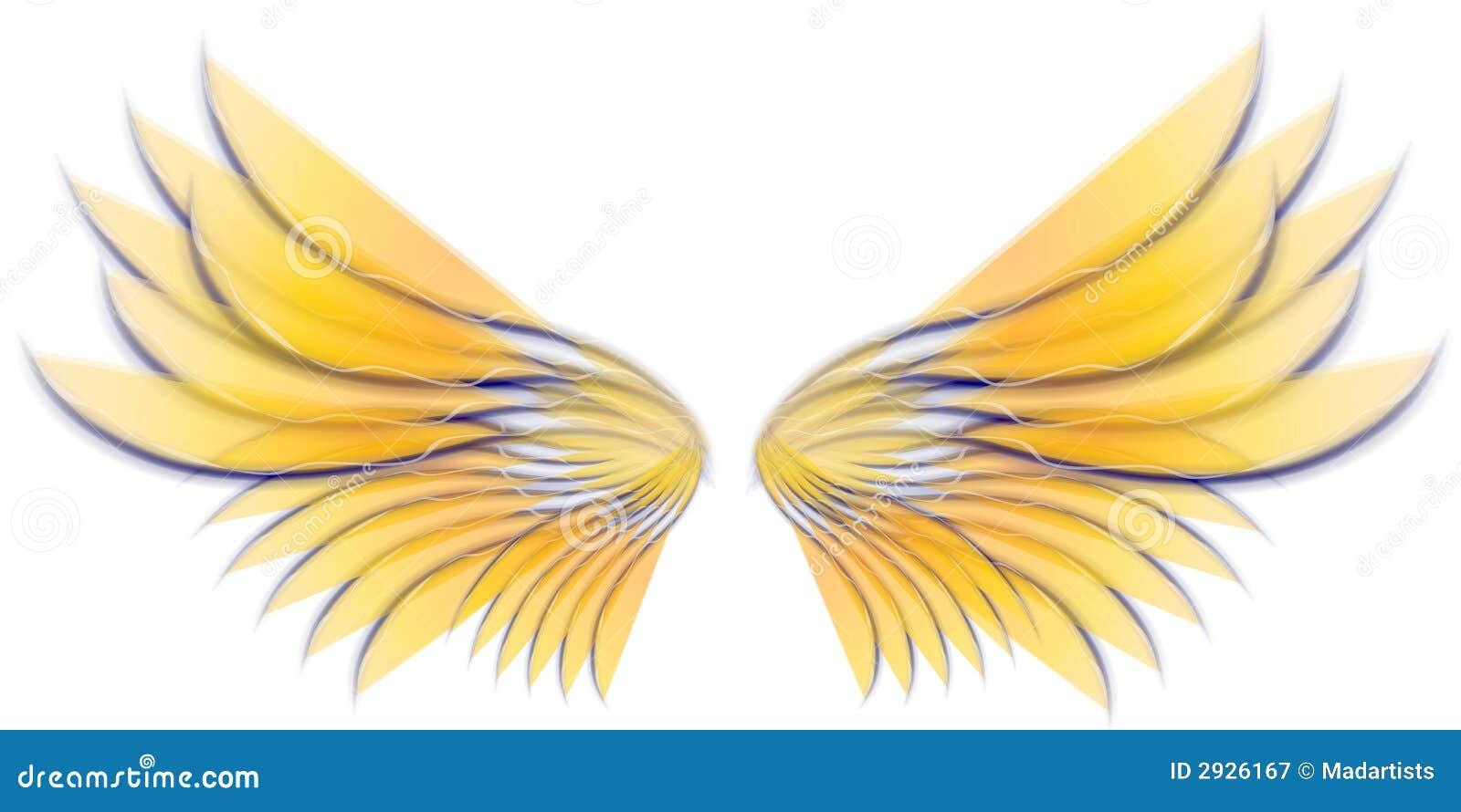 Angel Bird Or Fairy Wings Grey Stock Image - Image: 2926171