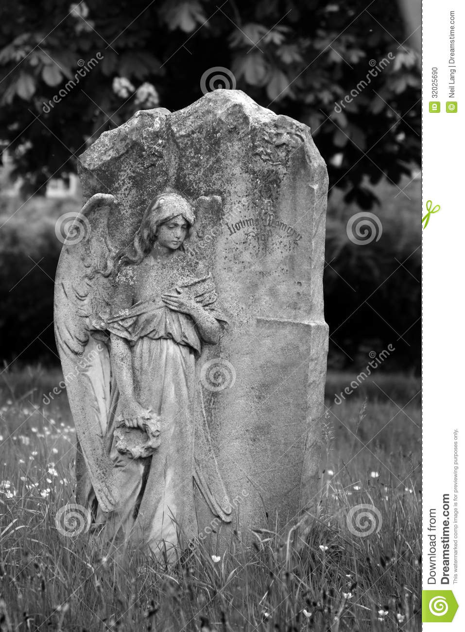 Angel On Blank Headstone Stock Photo Image Of Classical 32025690