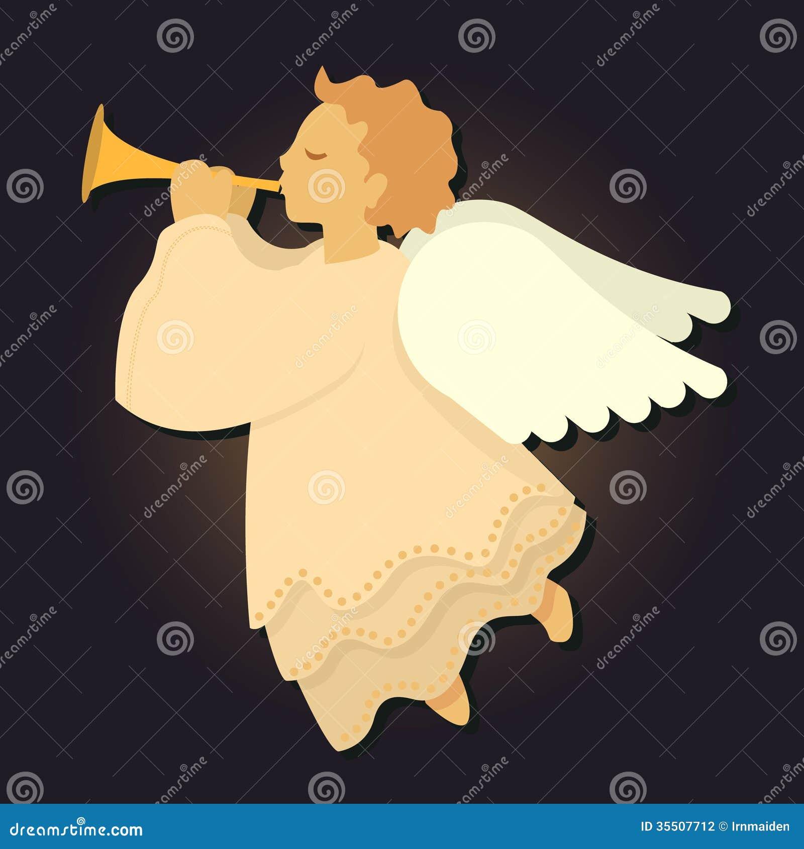 Angel Blowing Horn vektor illustrationer. Illustration av cartoon ... 203b41c9ebaf1