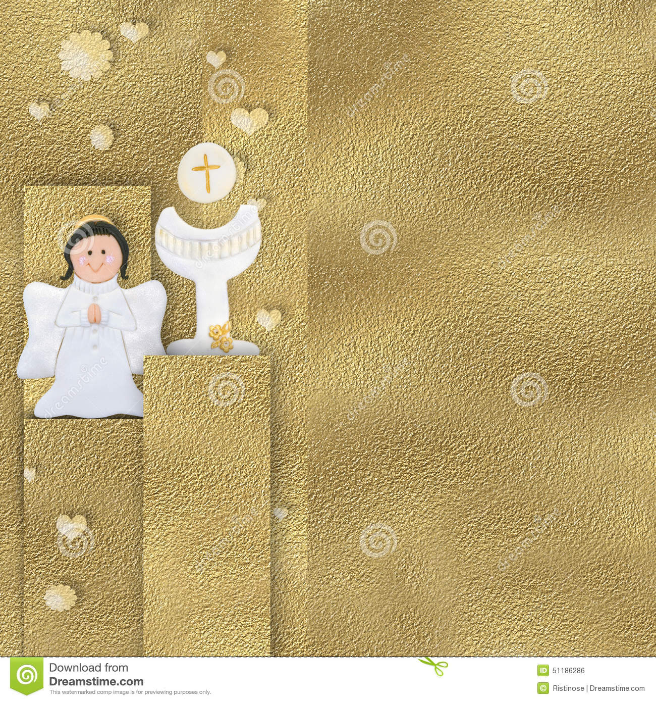 Angel And Calyx Communion Card Stock Illustration Illustration Of