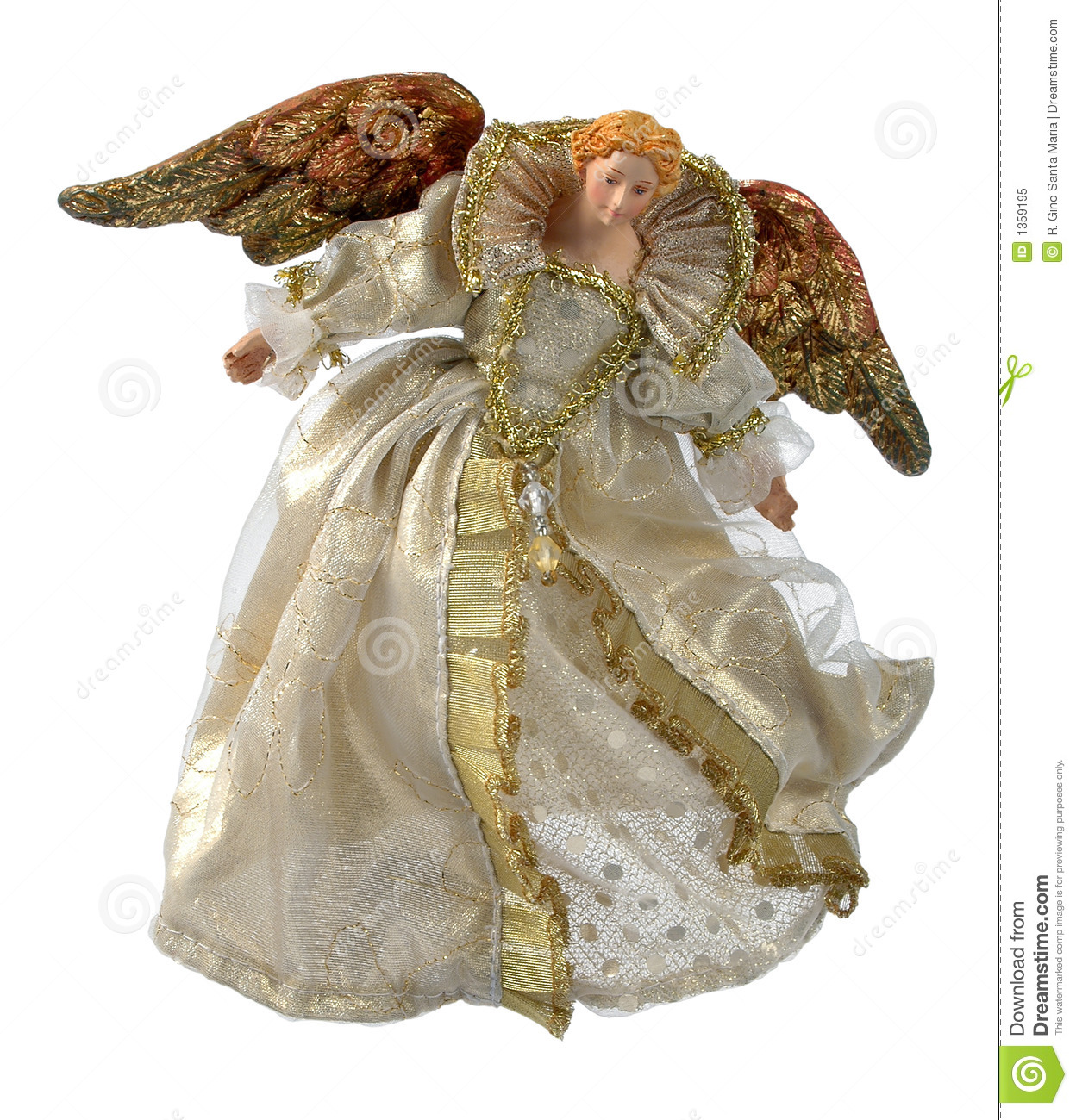 Angel Christmas Ornament Antique Stock Image Image Of Isolation