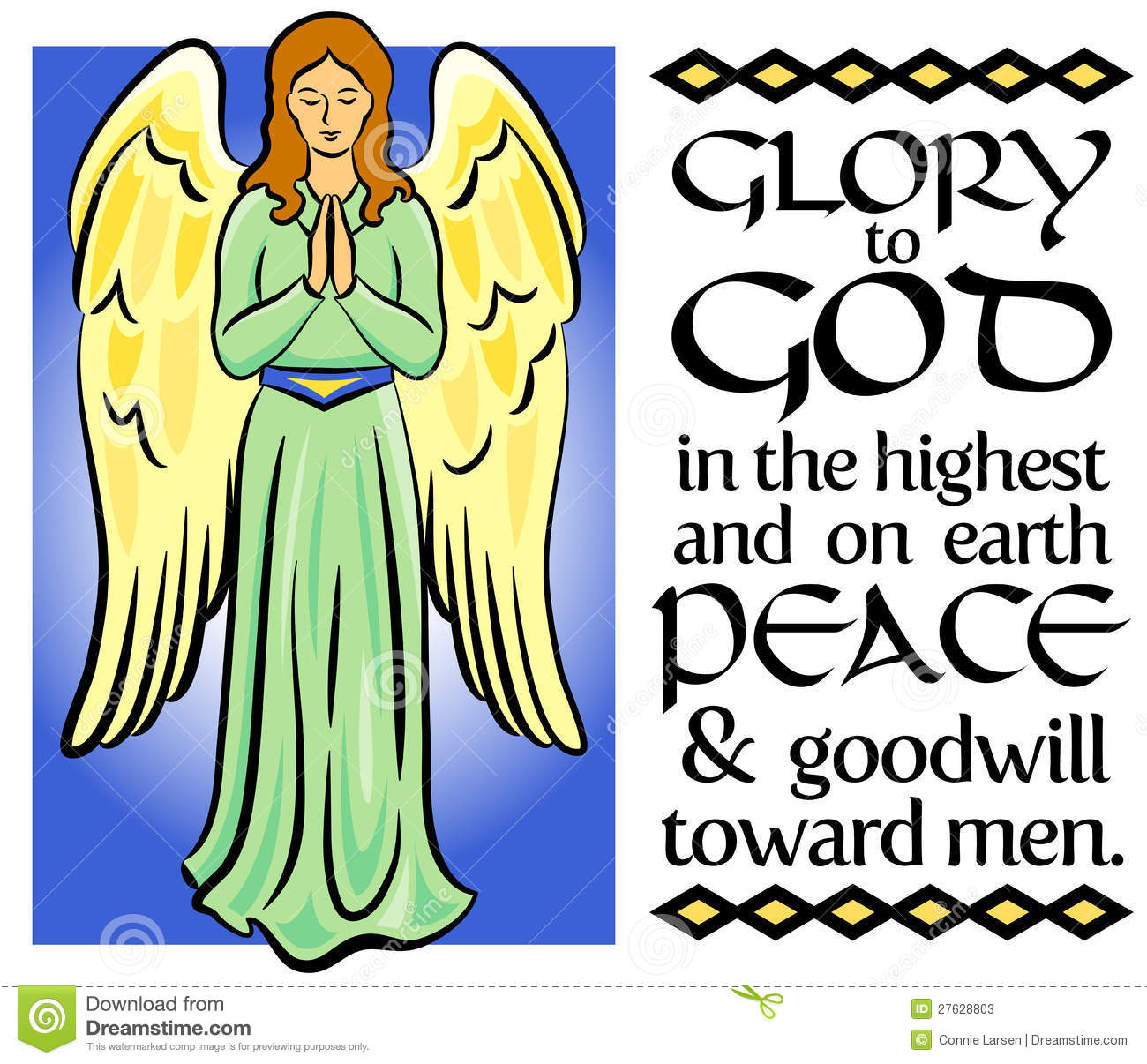 Angel Christmas Verse Eps Stock Vector Image Of