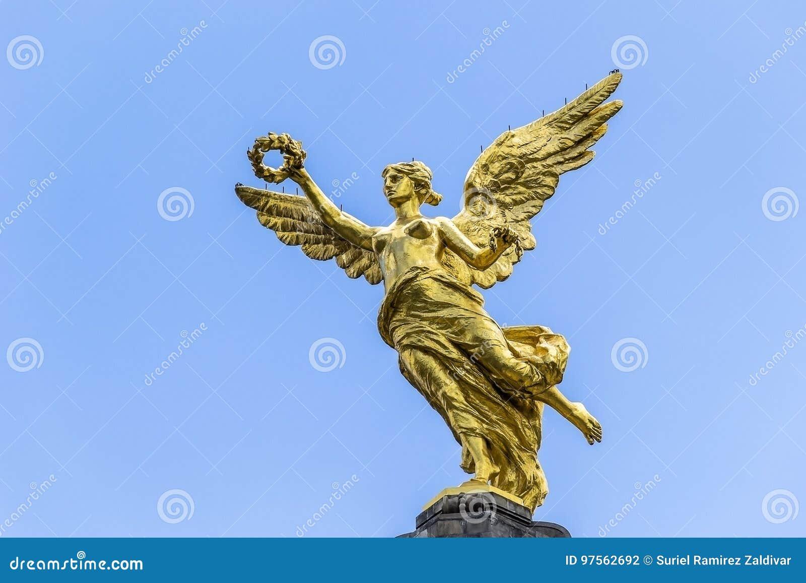Angel De La Independencia Stock Photo Image Of Symbol 97562692
