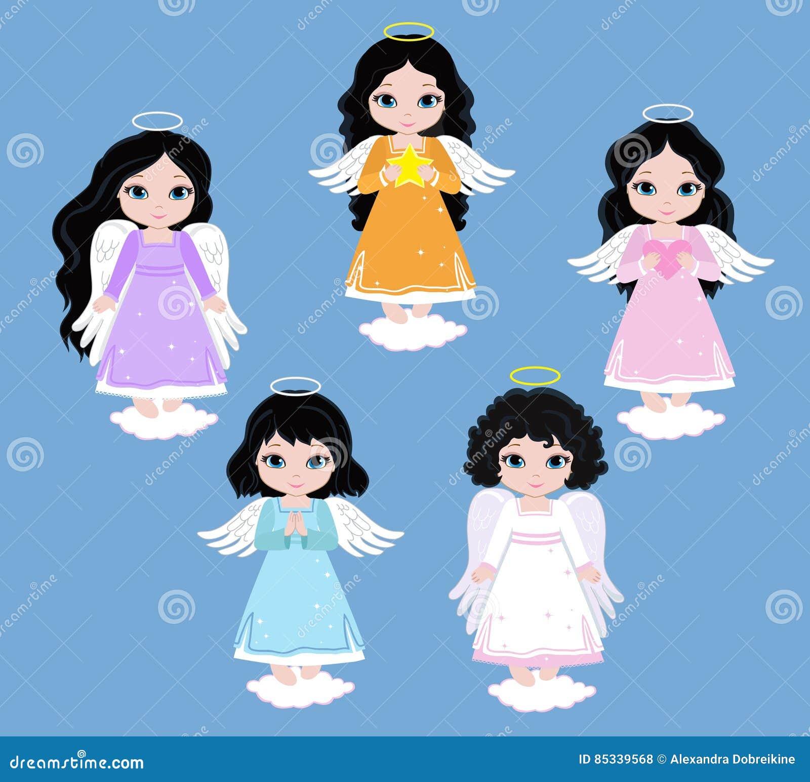 Angel Digital Clipart Metta le ragazze di angelo sul cielo baptism