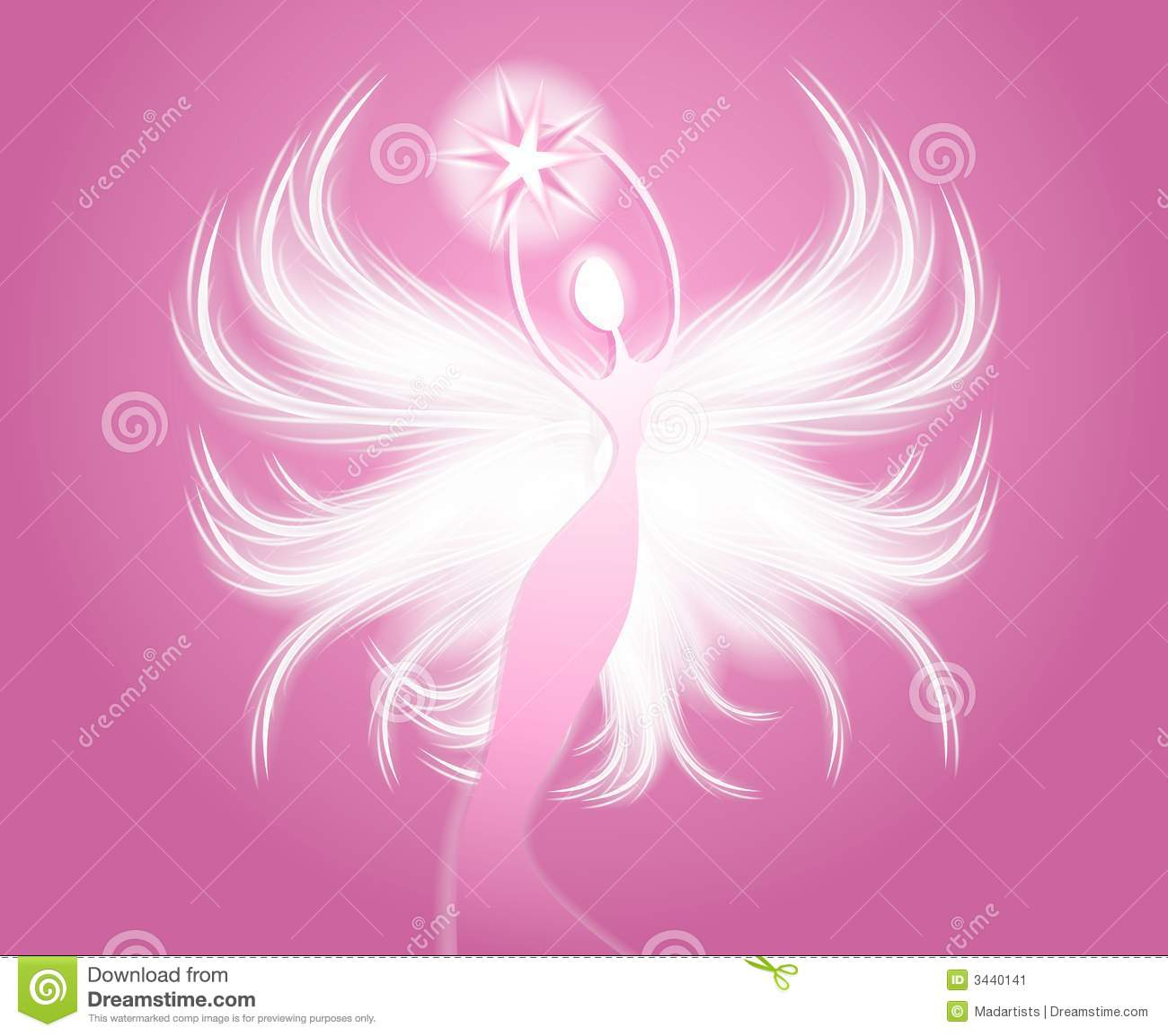 clip art illustration featuring a beautiful angel with white ...