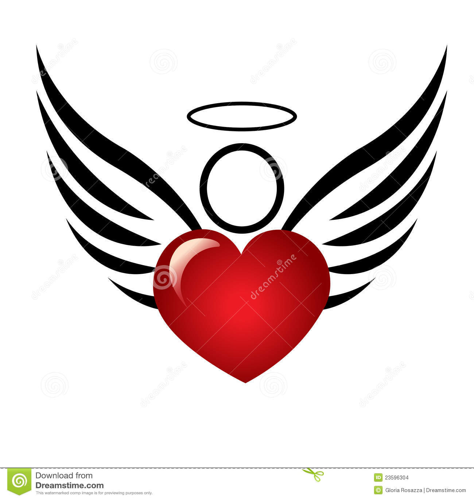 Angel with heart logo stock images image 23596304 - Coeur avec des photos ...