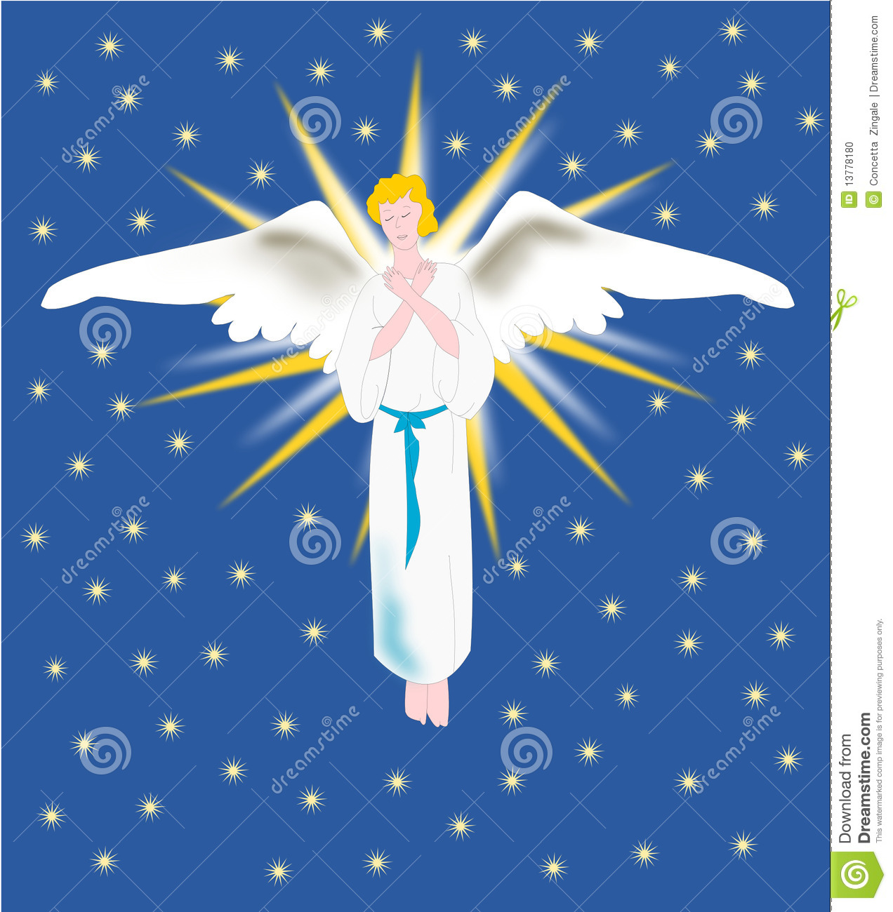 Angel From Heaven Stock Illustration Illustration Of Purity 13778180