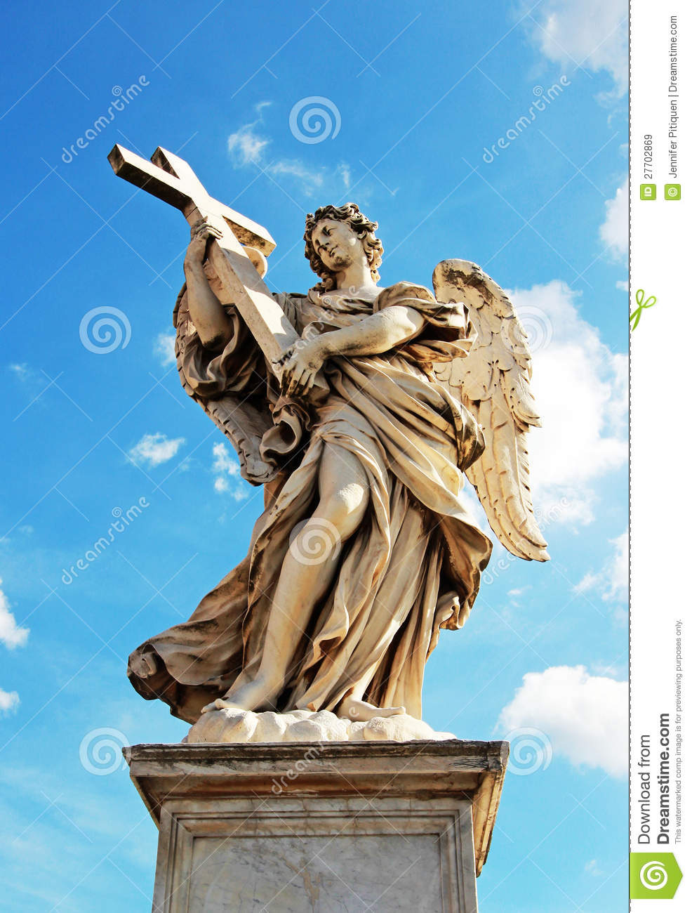 Angel Holding Cross