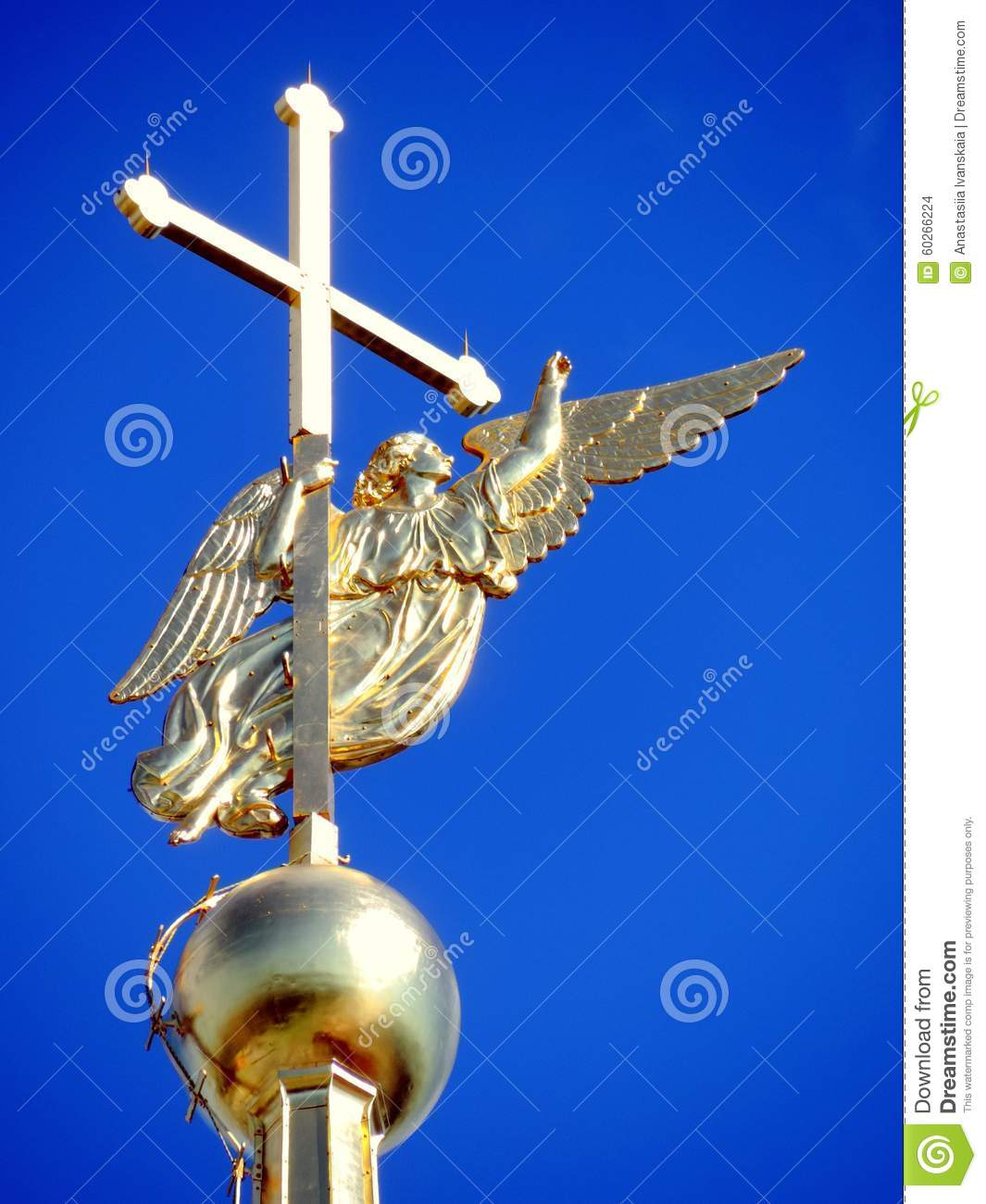 Download Angel Of Peter And Paul Cathedral In Saint-Petersburg Stock Photo - Image of orthodox, nobody: 60266224