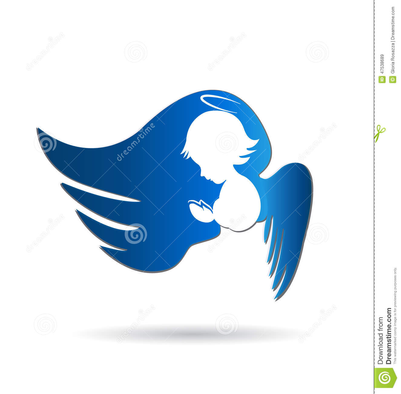 Angel Praying Stock Vector Image 47538689: angel logo design
