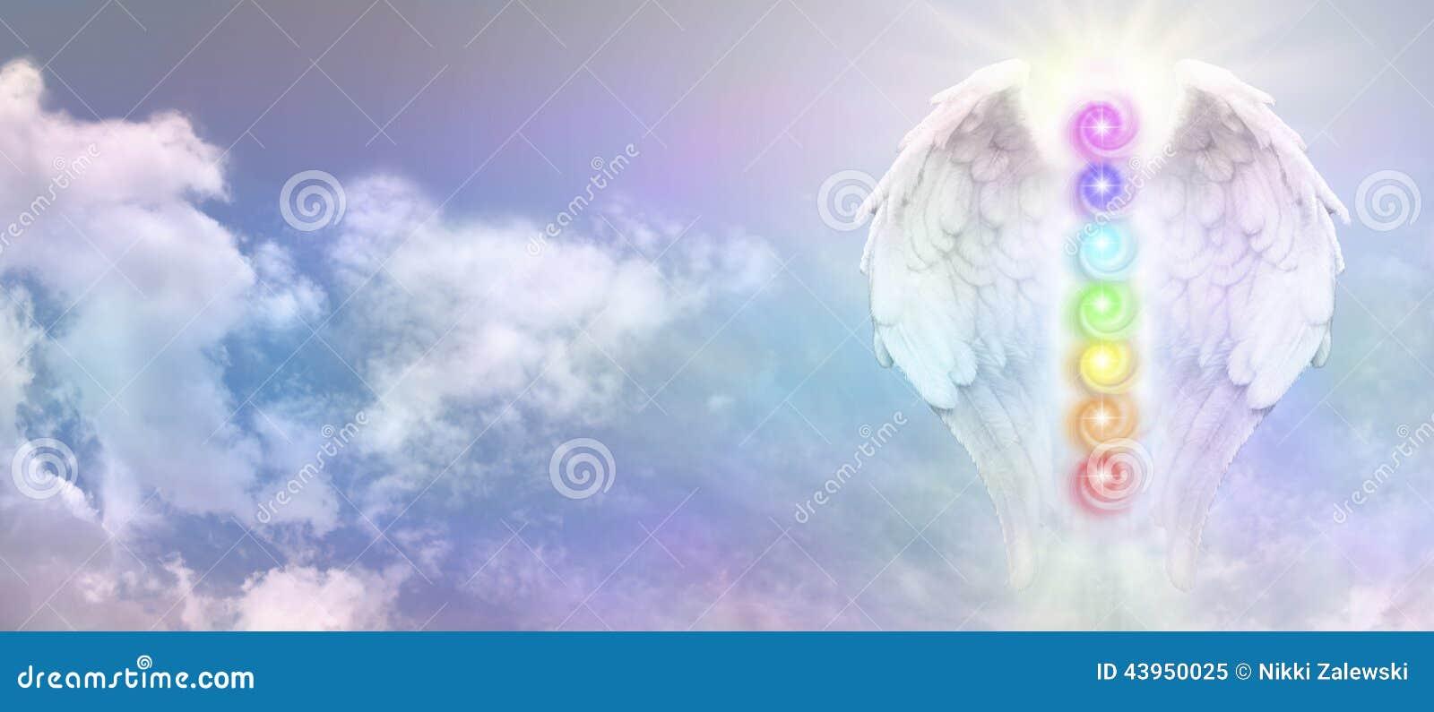 Angel reiki wings and seven chakra vortexes stock image image angel reiki wings and seven chakra vortexes biocorpaavc
