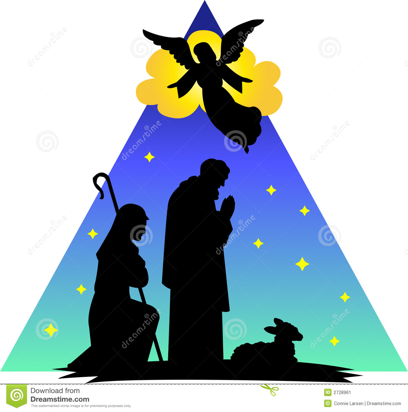 Angel Shepherds Silhouetteeps Image Image 2728961 – Who Announced the Birth of Jesus