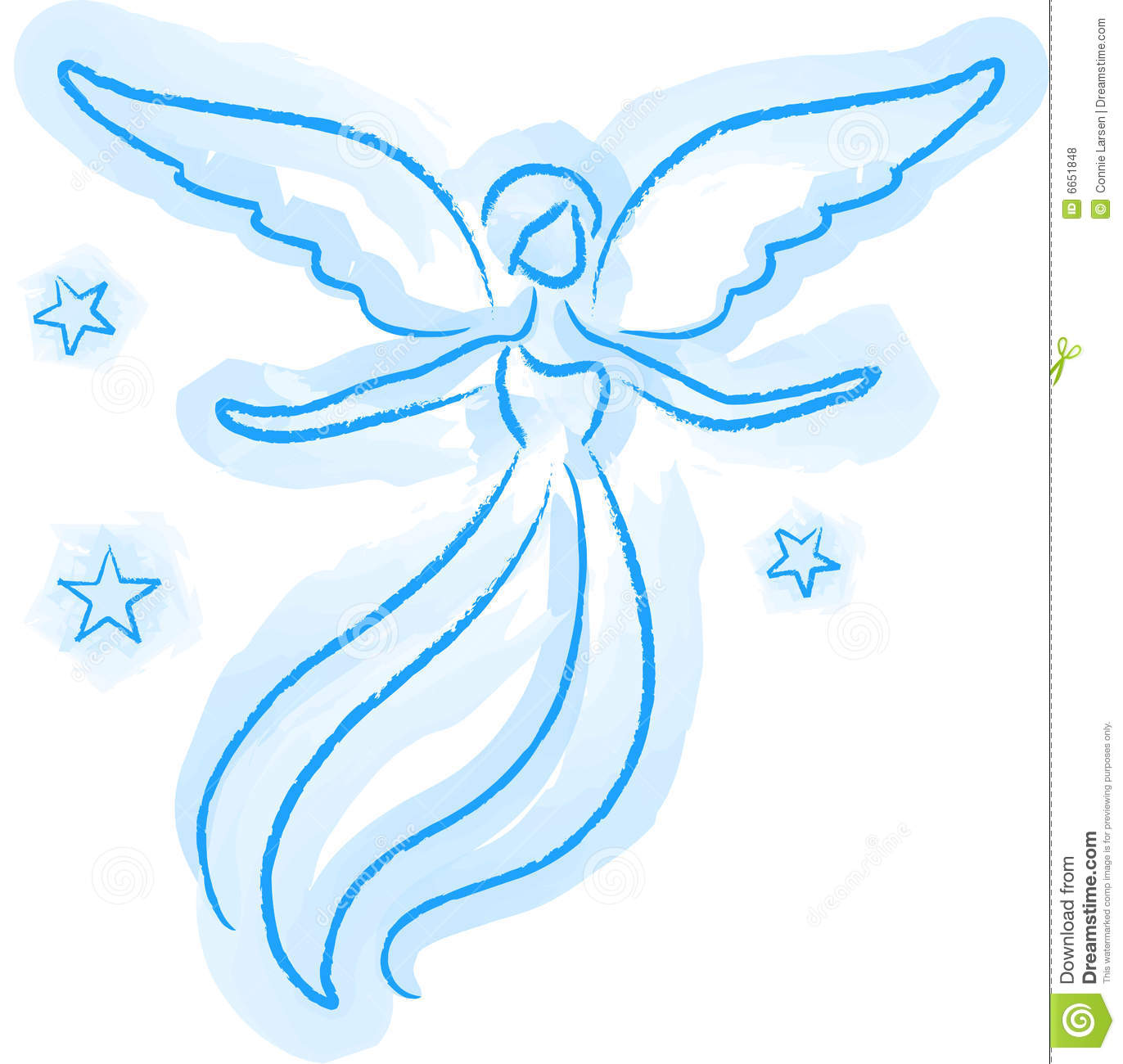 angel sketch stock illustration image of wings graphics 6651848