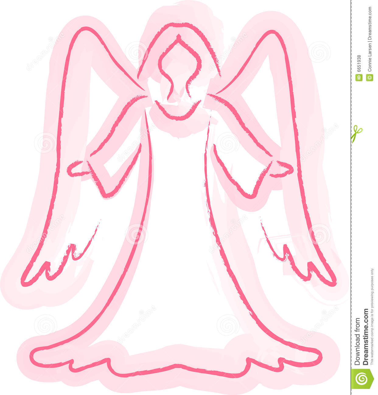 Angel Sketch Royalty Free Stock Photos - Image: 6651938