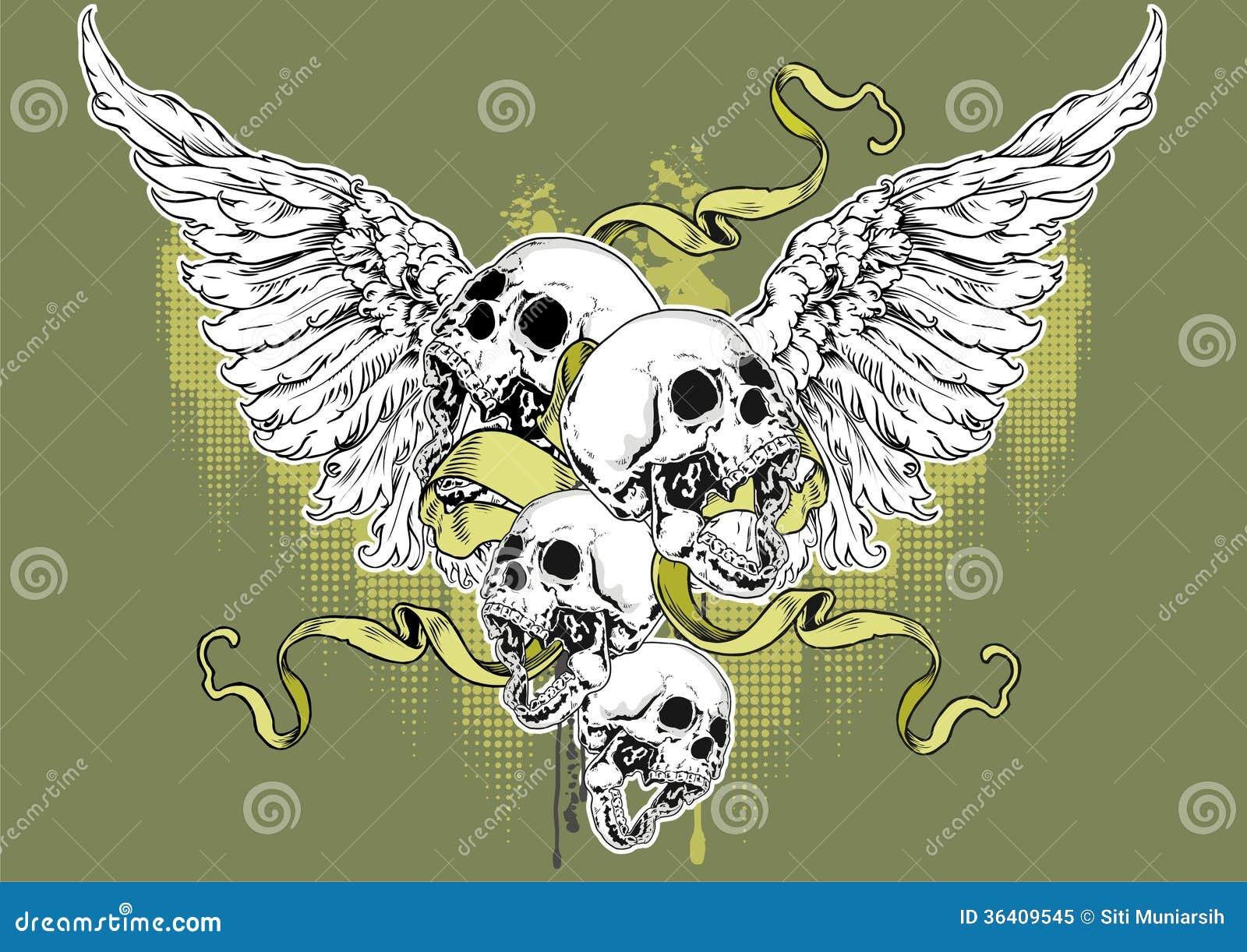 angel skull royalty free stock photo image 36409545