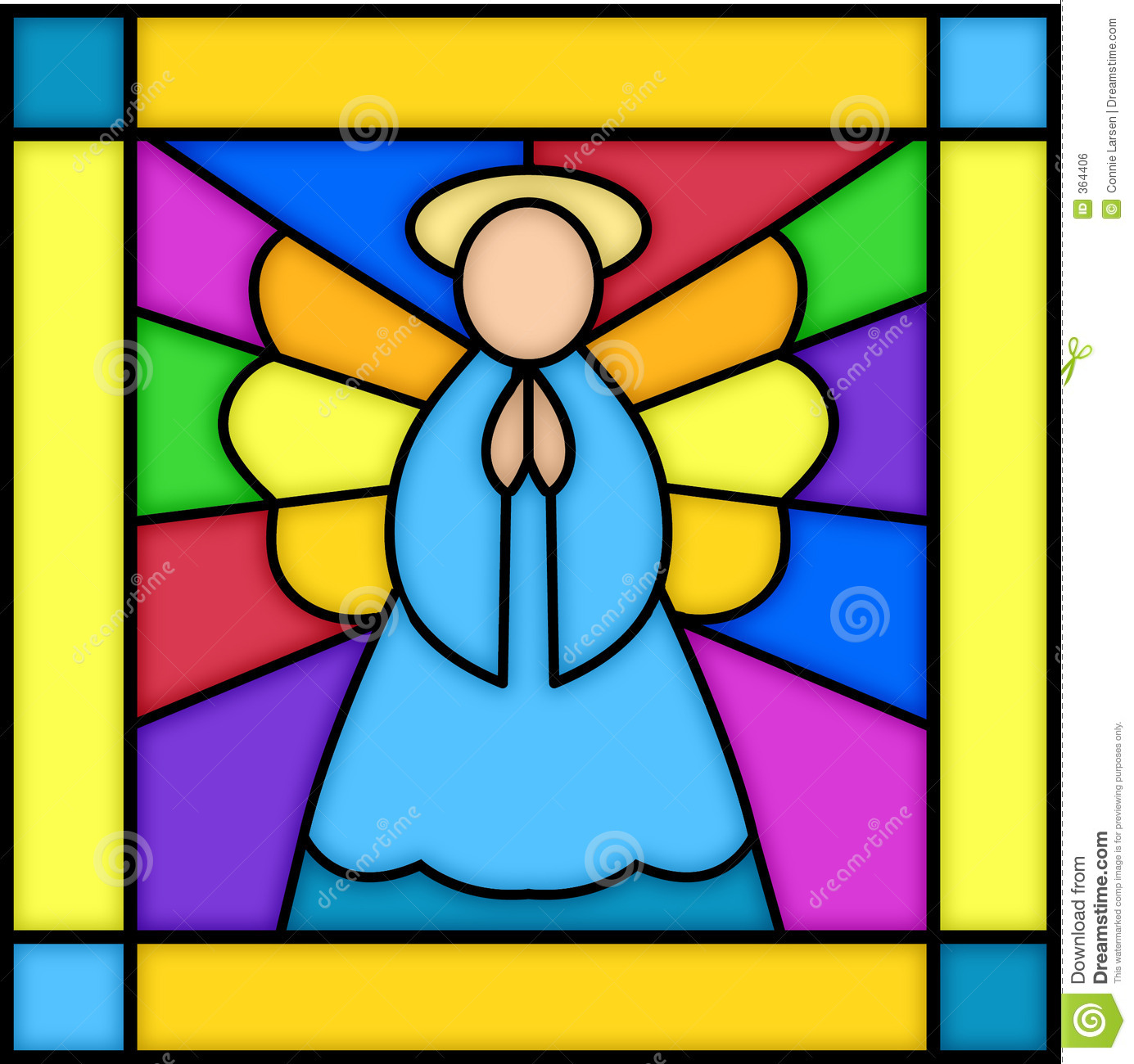 a2bcf257a Angel in stained glass stock illustration. Illustration of christmas ...