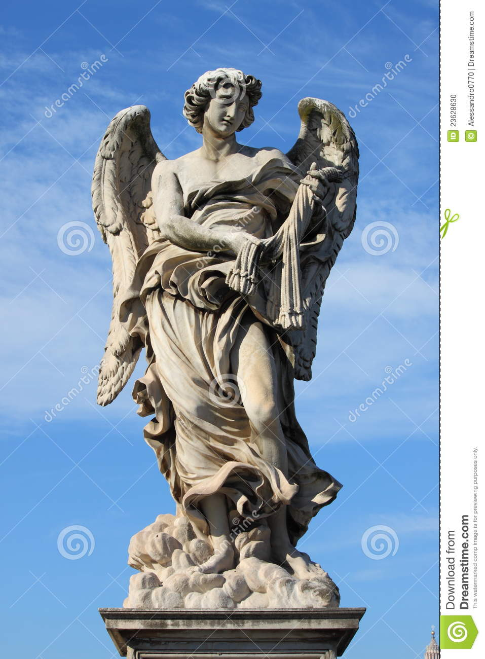 Angel statue stock photo. Image of ancient, historic ...