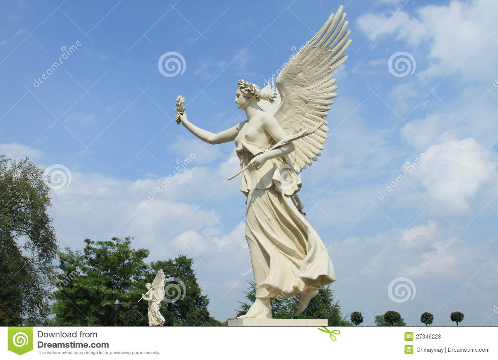 Angel Statue Of Schwerin Castle Germany Stock Image