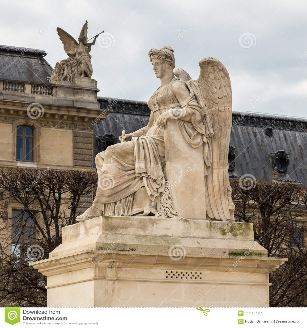 Angel Statue At Triumphal Arch Arc De Triomphe Du ...