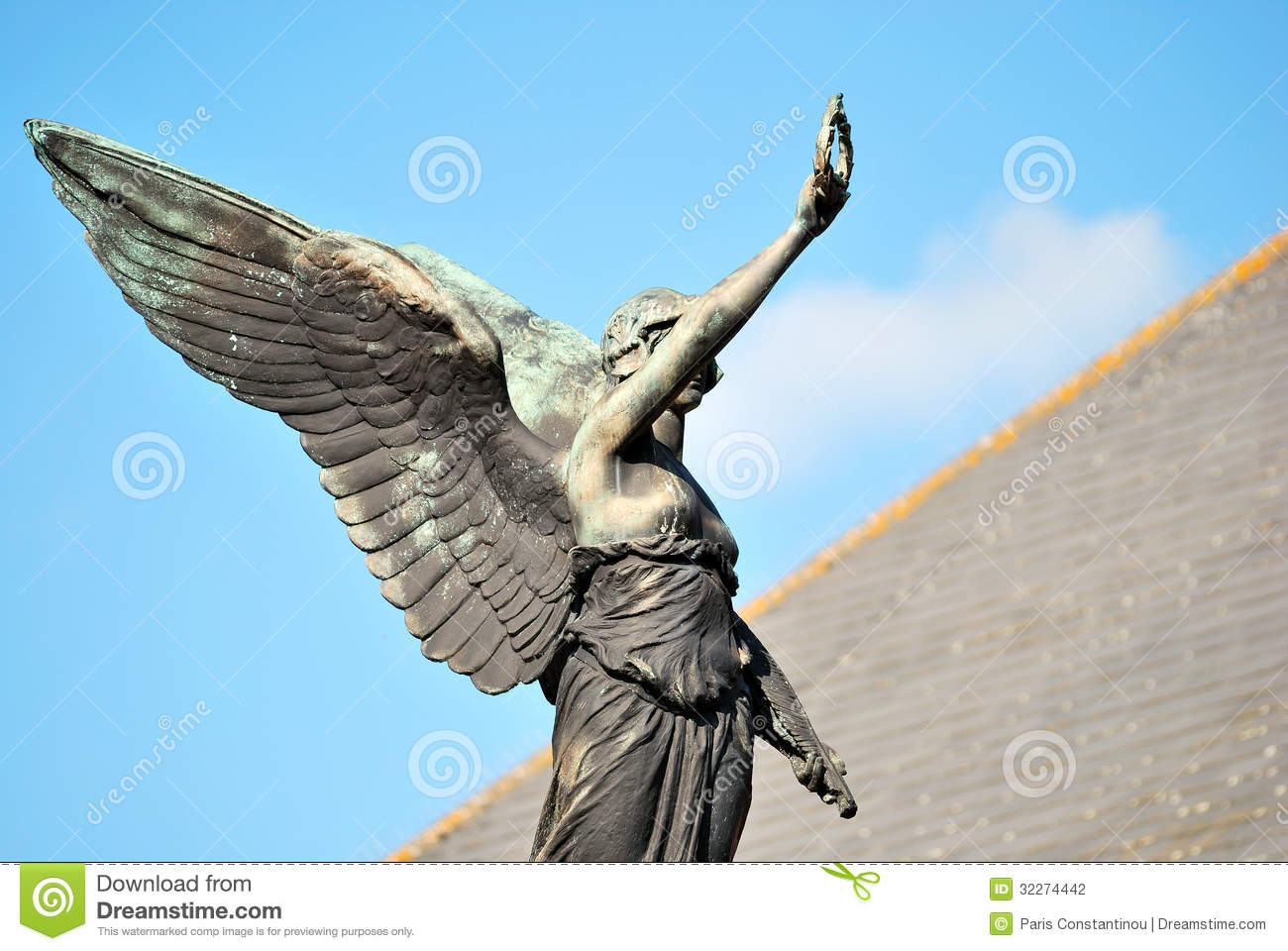 angel statue stock photo image of hope place structure 32274442