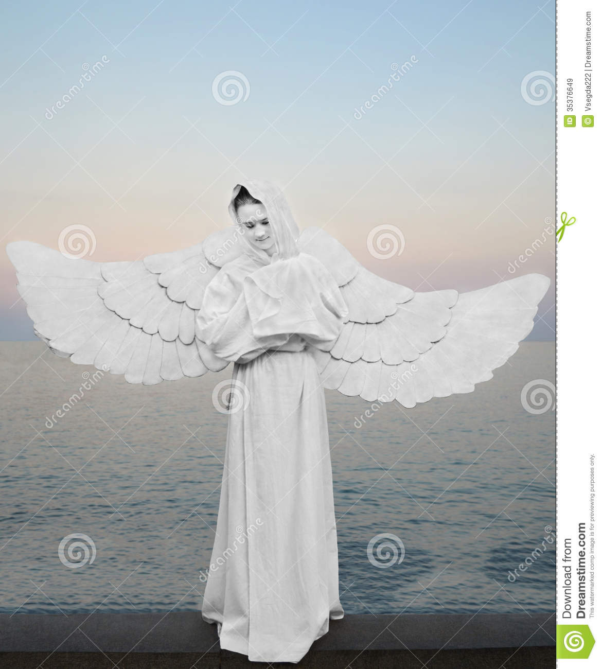 Angel Symbol Of Love Purity And Protection Stock Image Image Of