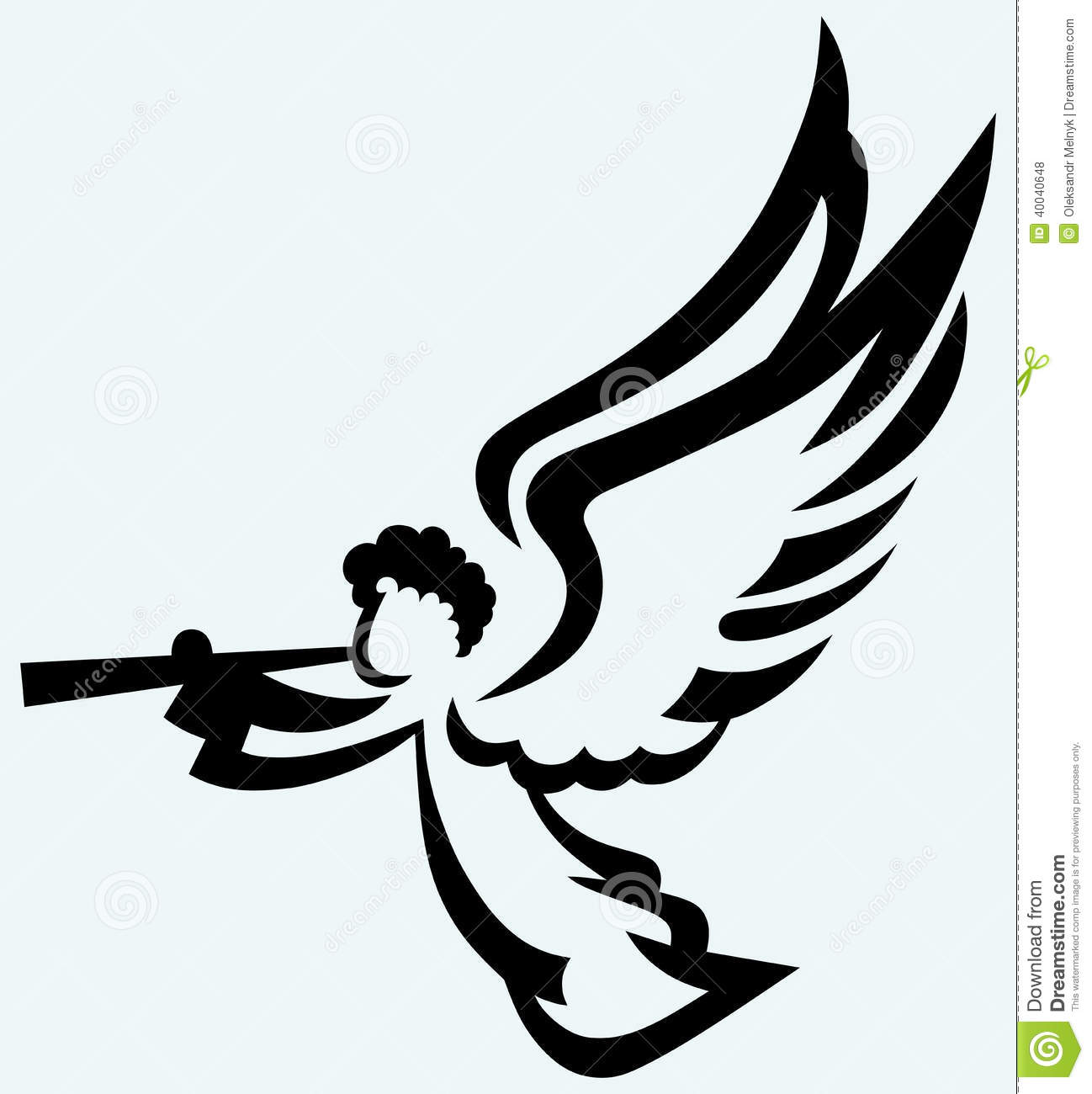 Angel With Trumpet Stock Vector - Image: 40040648