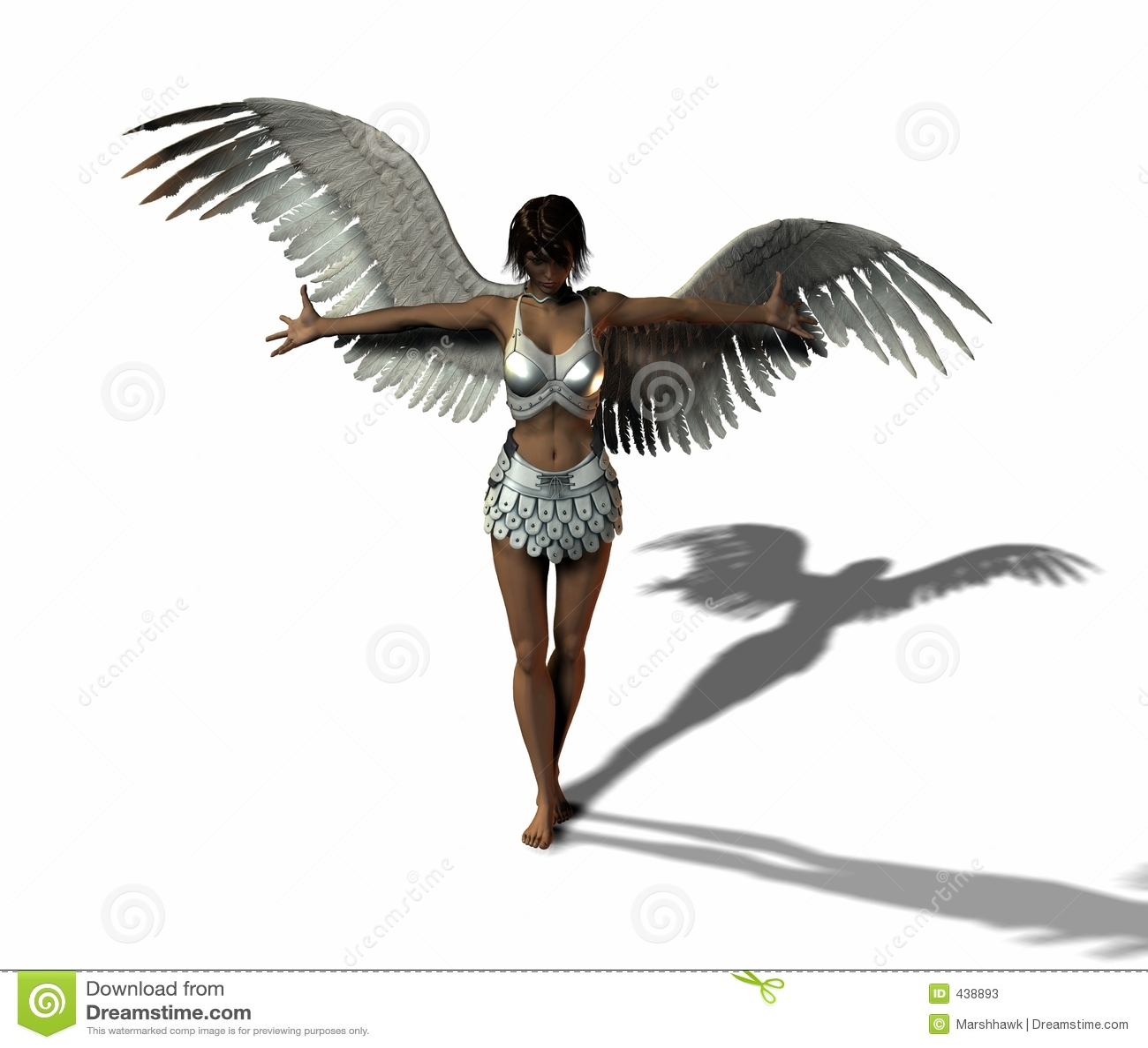 angel warrior stock illustration illustration of warrior 438893