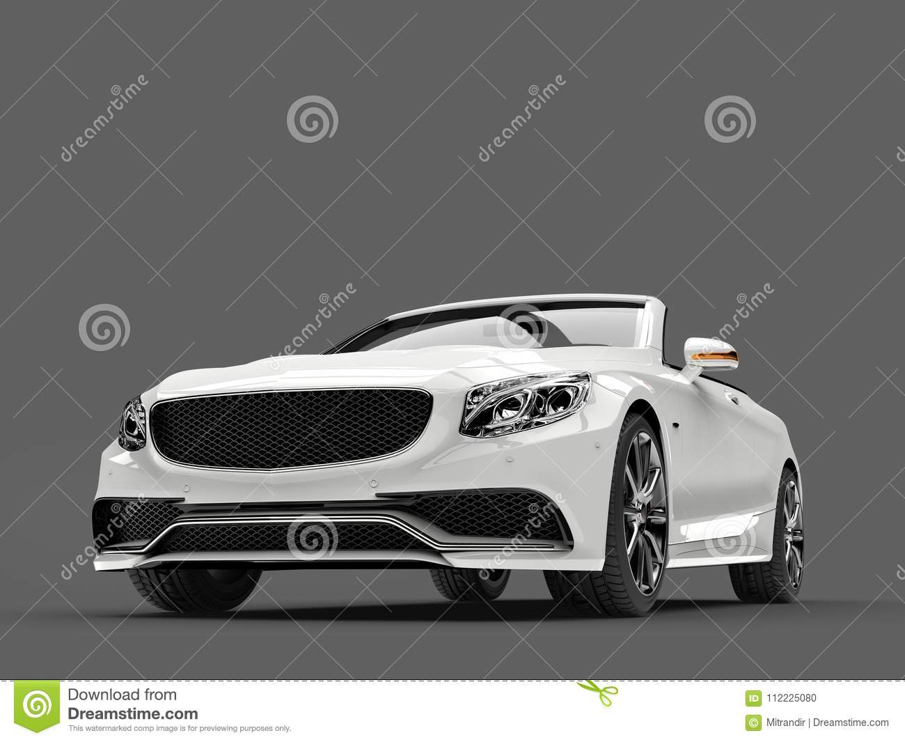 download angel white modern luxury convertible car front low angle shot stock illustration illustration - Convertible Angle