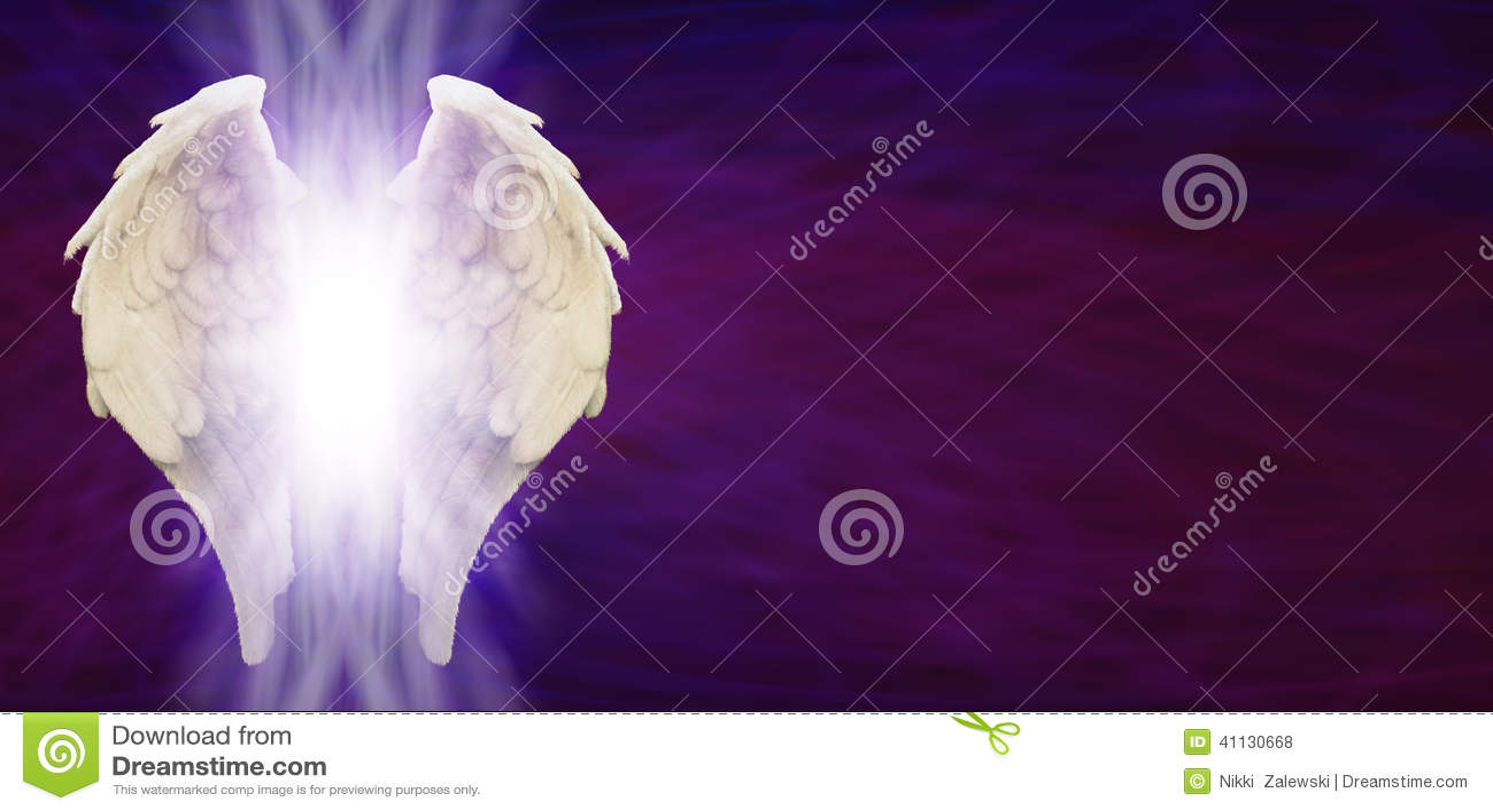 Angel Wings Banner Head auf purpurroter Matrix